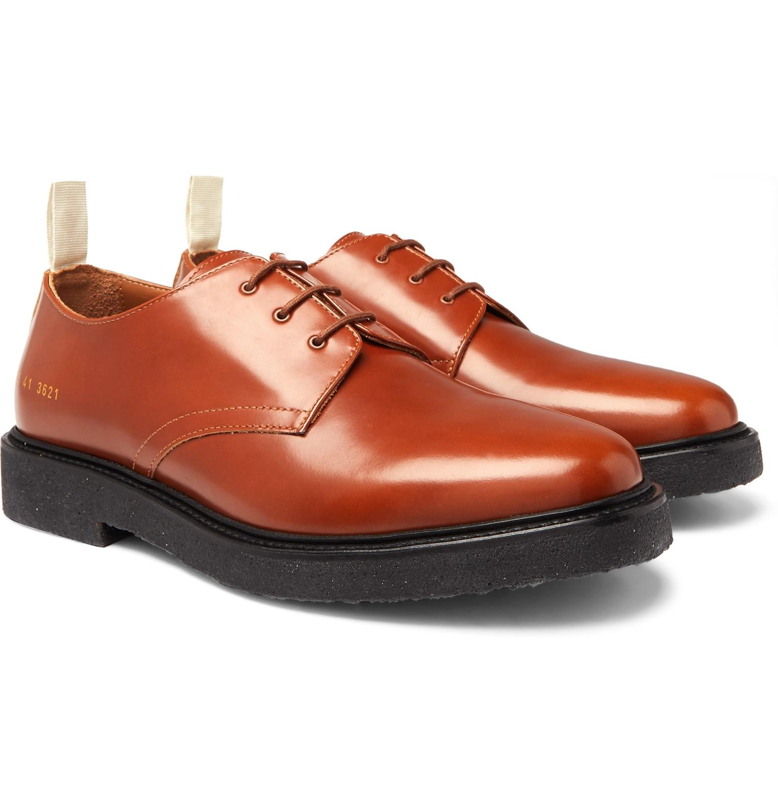 0b69f2d9f5e7 Lyst - Common Projects Cadet Leather Derby Shoes in Brown for Men