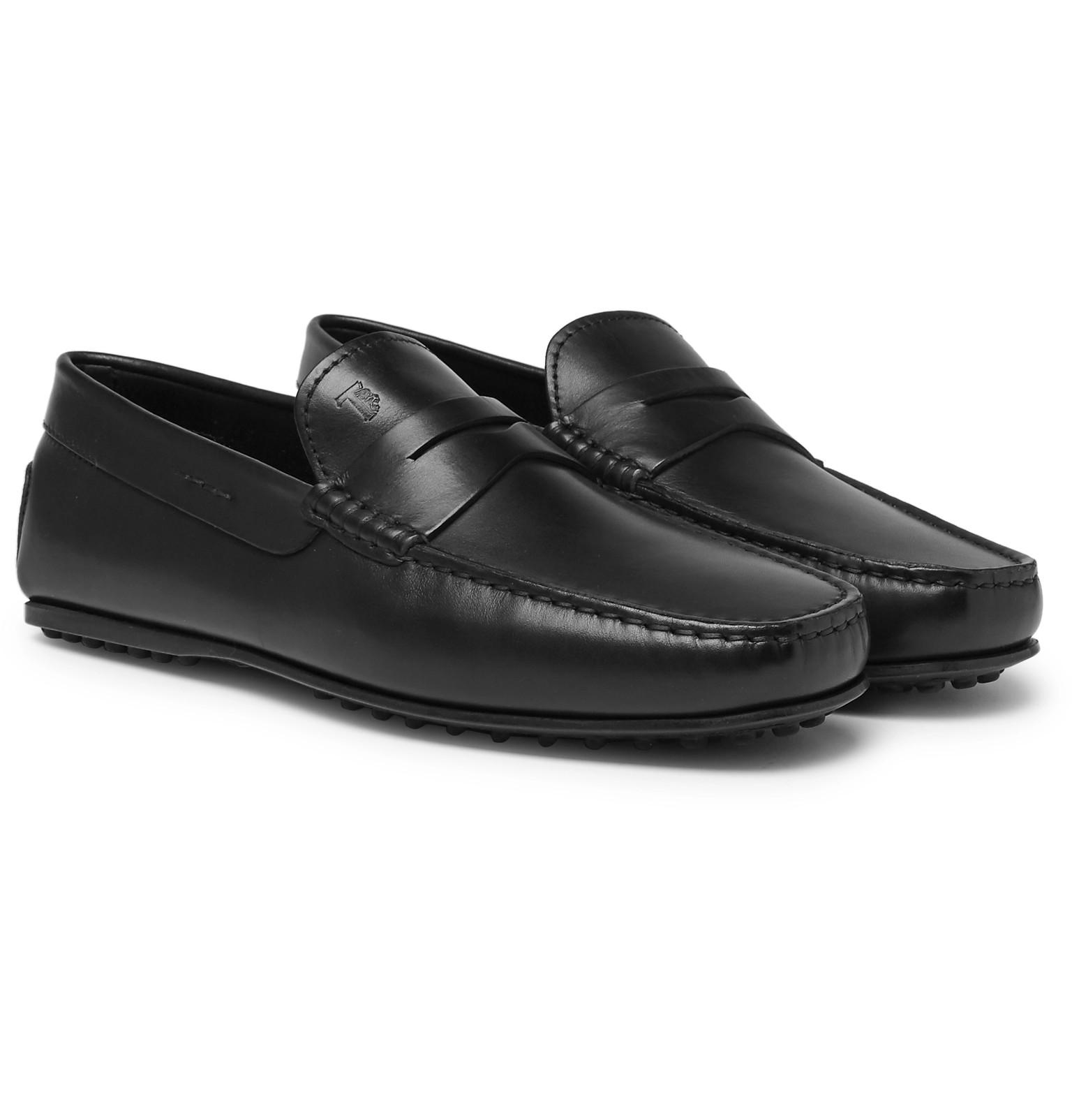 a9135fdcc52 Tod s City Gommino Leather Penny Loafers in Black for Men - Lyst