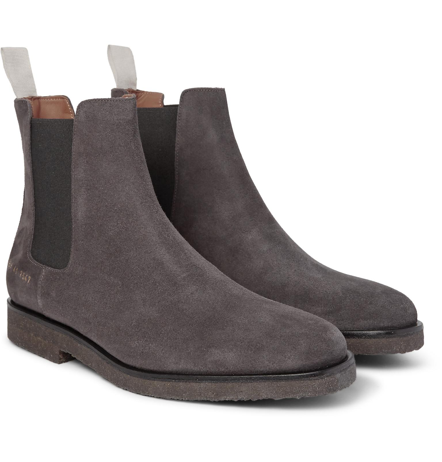 brand new fd930 e10c0 common-projects-charcoal-Suede-Chelsea-Boots-Charcoal.jpeg