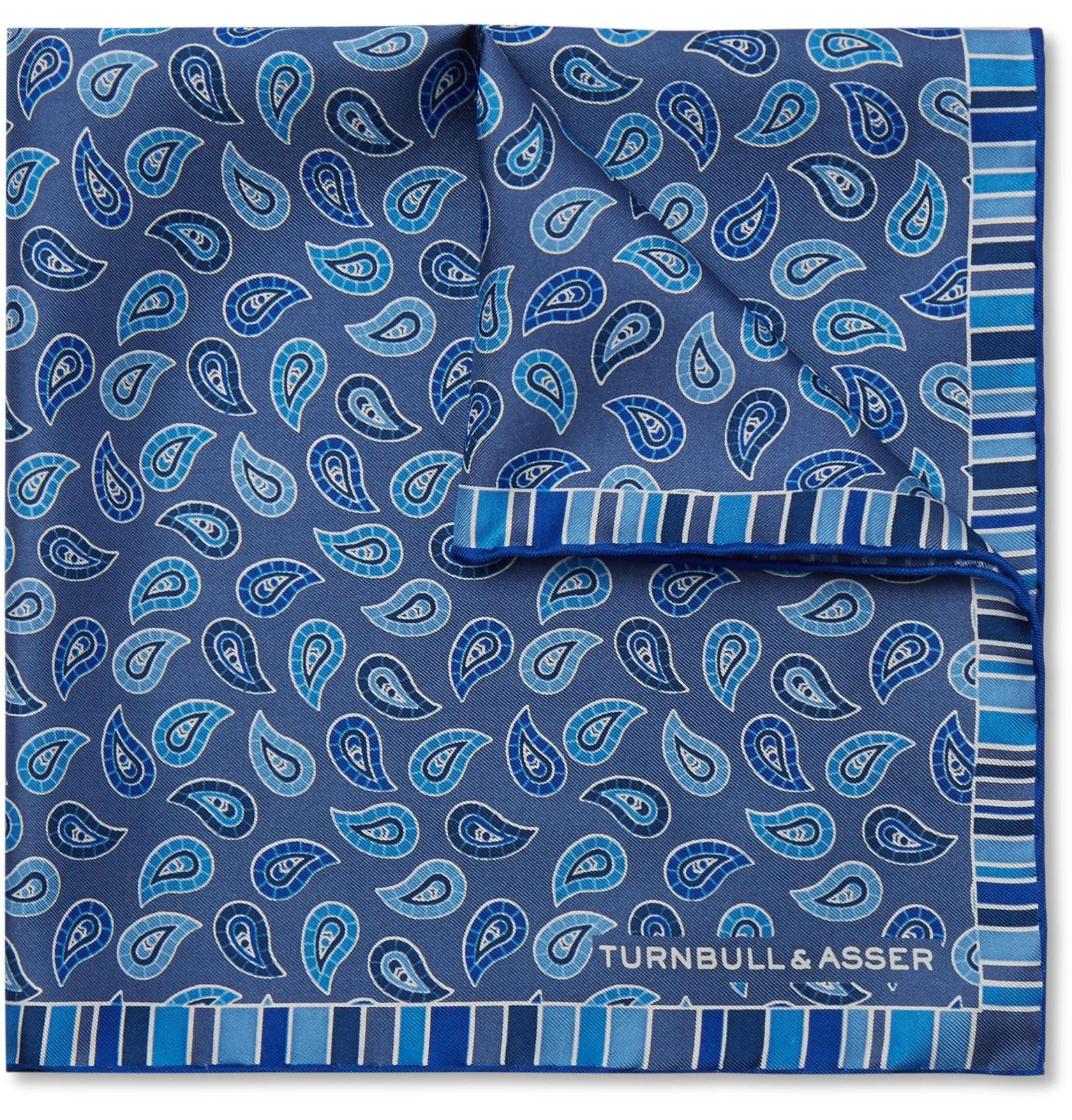 Printed Silk-twill Pocket Square Turnbull & Asser hidcnW