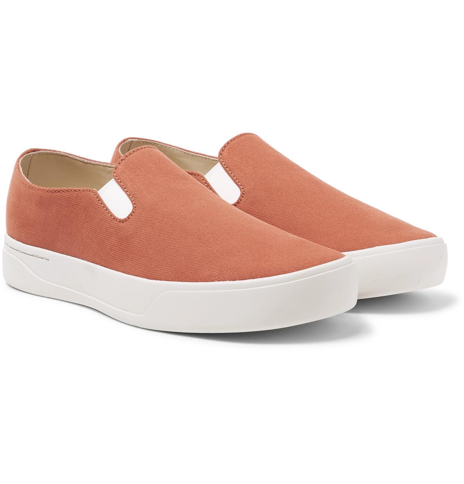 432e87573ae Lyst - Saturdays NYC Vass Twill Slip-on Sneakers in Orange for Men