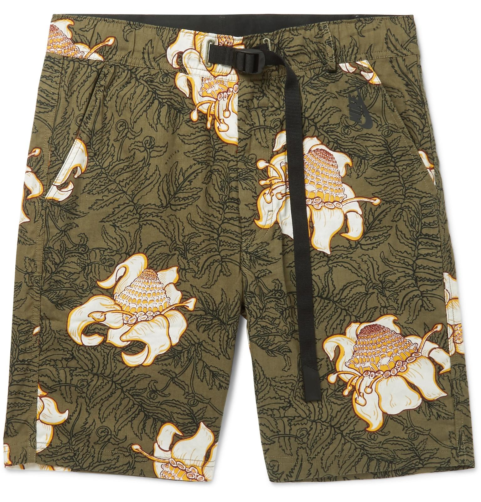 lab Nrg Floral-print Cotton Shorts Nike JPGHkKN
