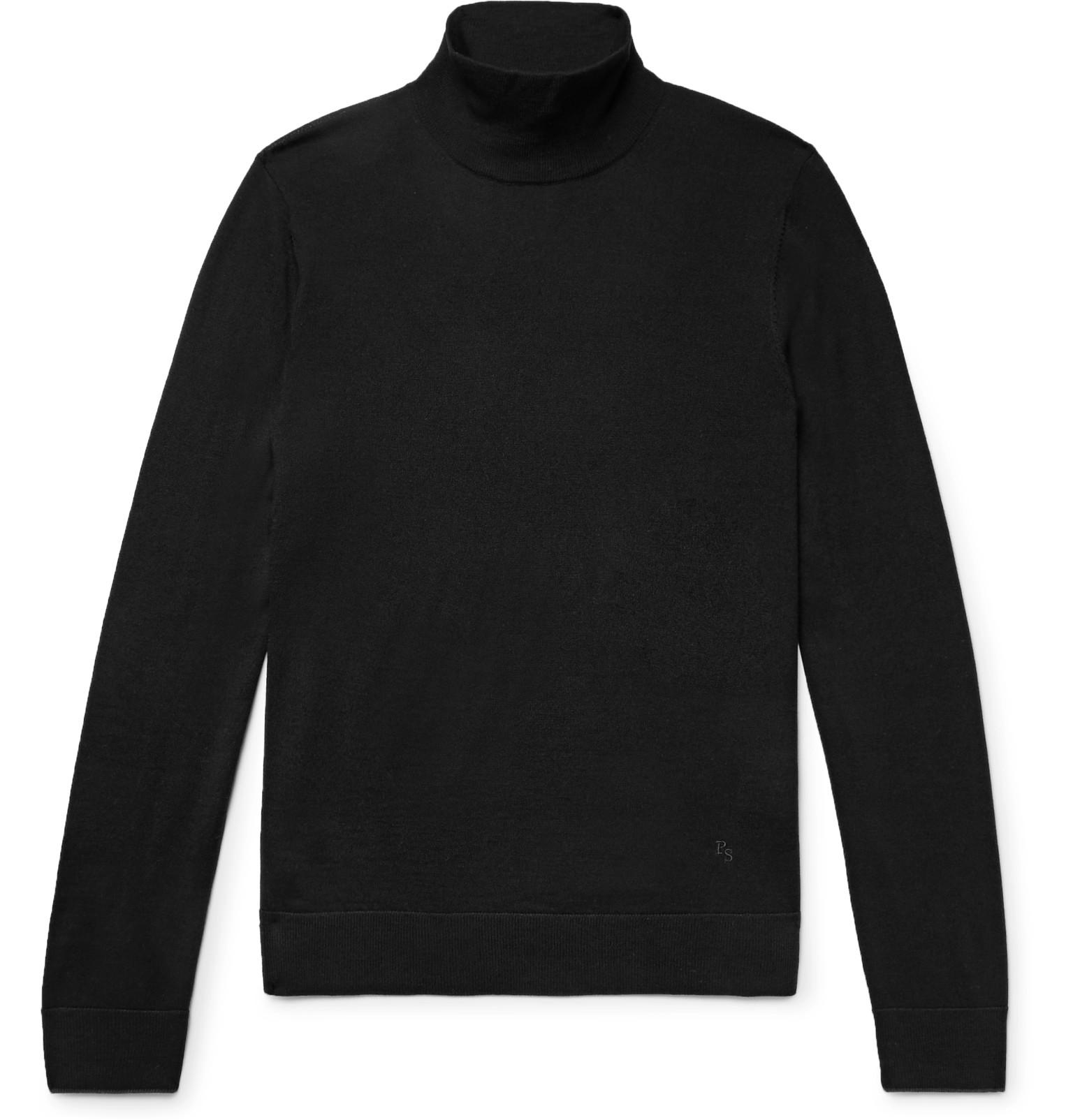Smith Sweater Black Rollneck Wool Merino Men's Ps By Paul qxwFFg