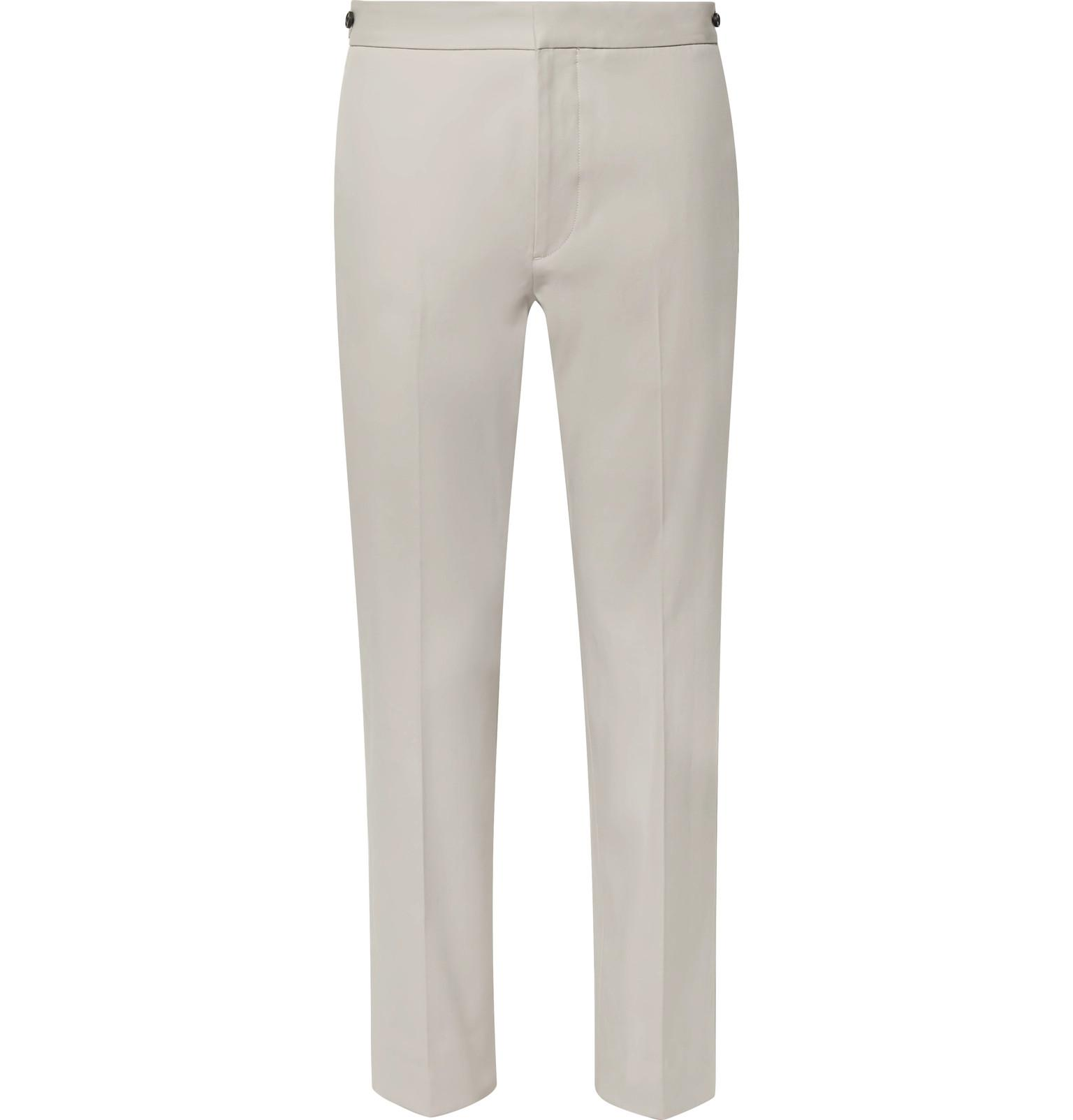 Logan Cropped Slim-fit Stretch-cotton Chinos Theory