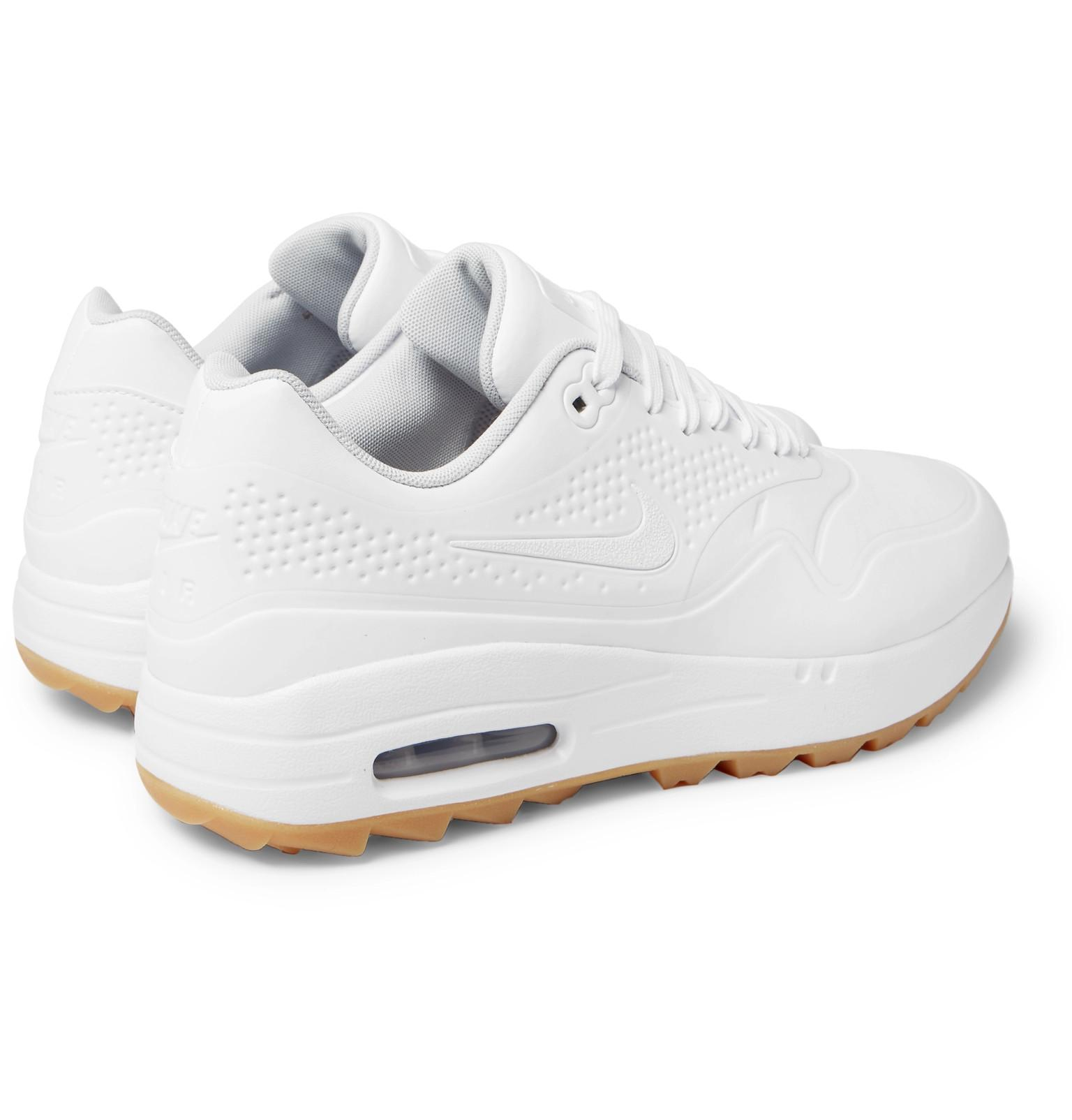 uk availability be38d 9d94c Nike - White Air Max 1g Coated Mesh Golf Shoes for Men - Lyst. View  fullscreen