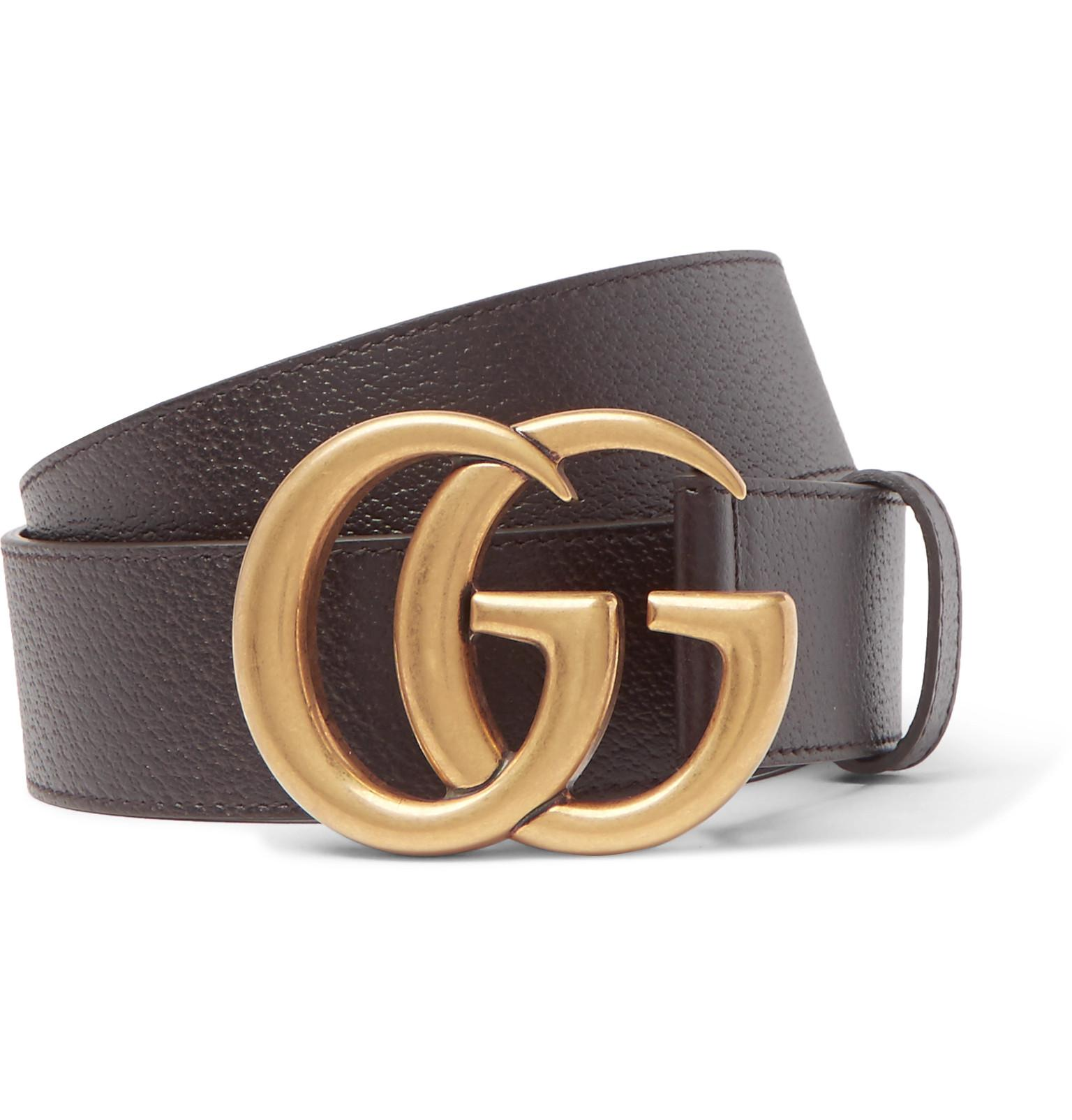 1c07f825bef Gucci - 4cm Brown Full-grain Leather Belt - Dark Brown in Brown for ...