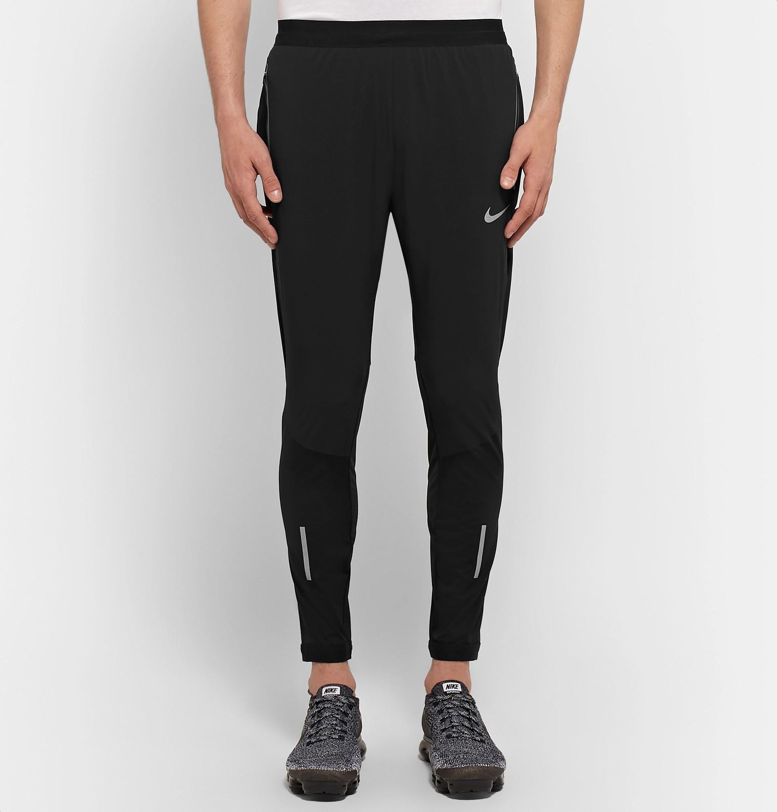 a968f358786d Lyst - Nike Swift Panelled Dri-fit Sweatpants in Black for Men