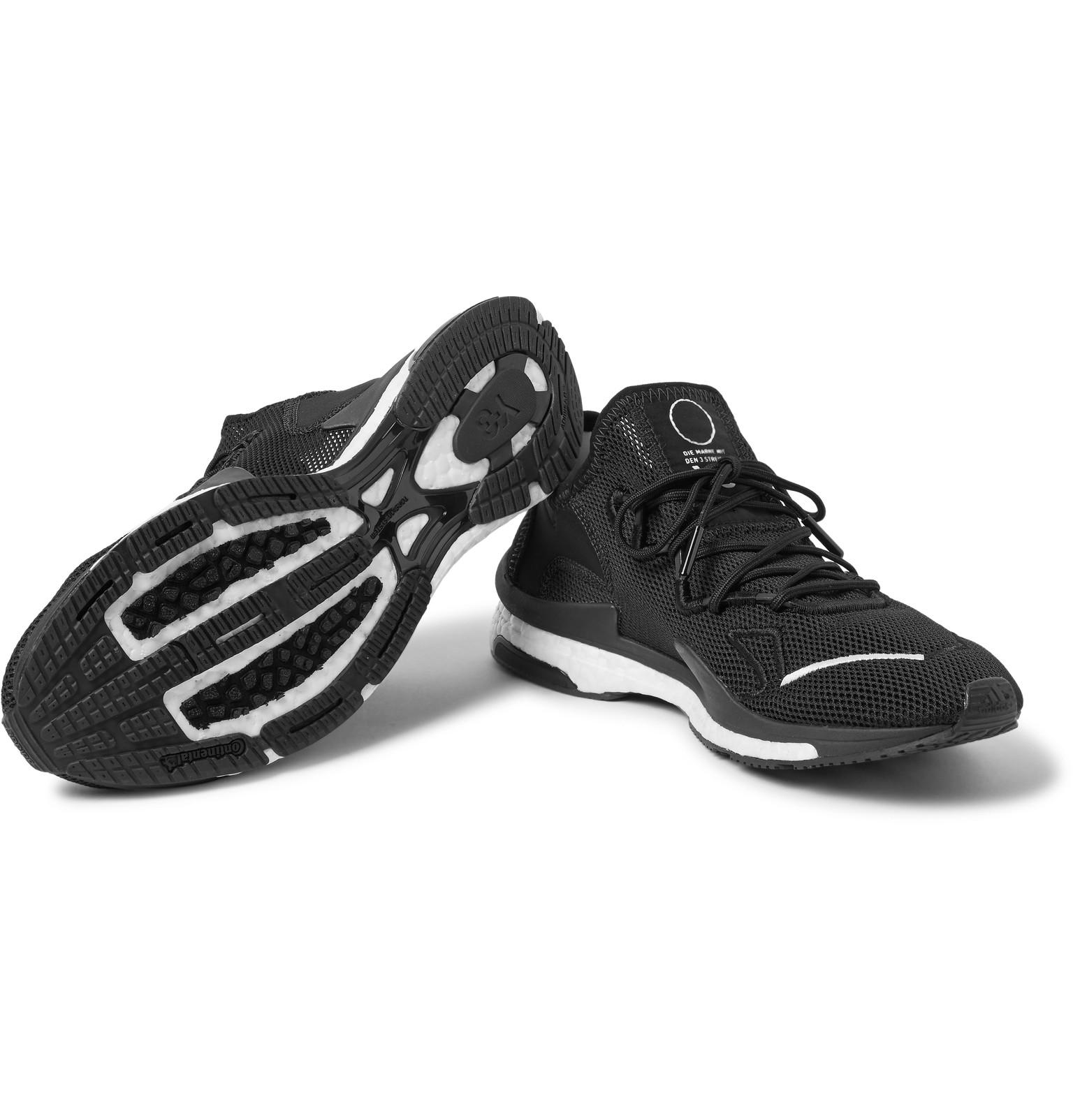 41e1f78c1 Y-3 Adizero Runner Neoprene And Suede-trimmed Mesh Sneakers in Black ...