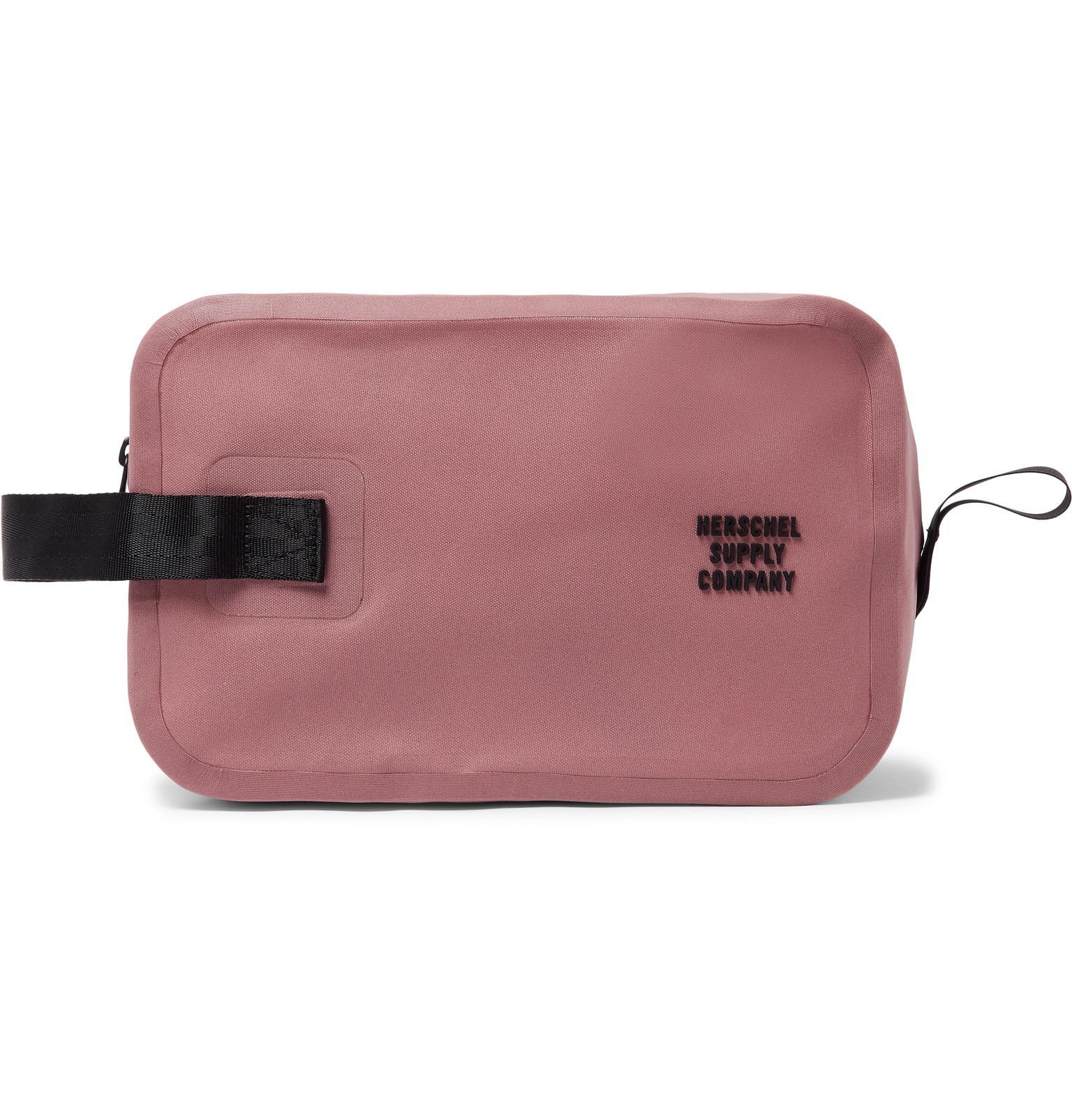 016d5d63e83e Herschel Supply Co. Chapter Tarpaulin Wash Bag in Pink for Men - Lyst