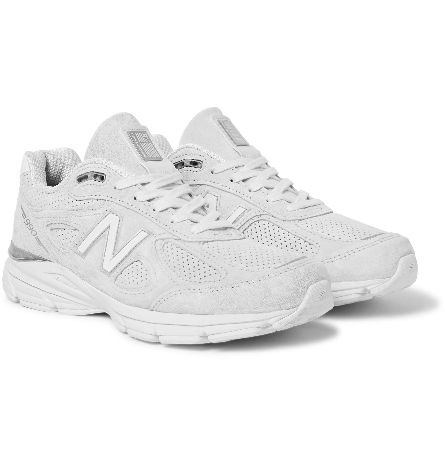 22a01495eab0d New Balance 990 Suede Sneakers in White for Men - Lyst