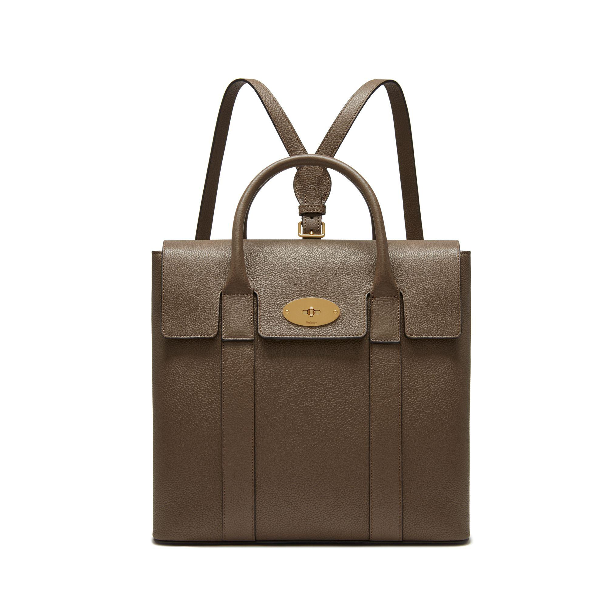 Mulberry. Women s Bayswater Backpack In Clay Small Classic Grain 174011a5f6