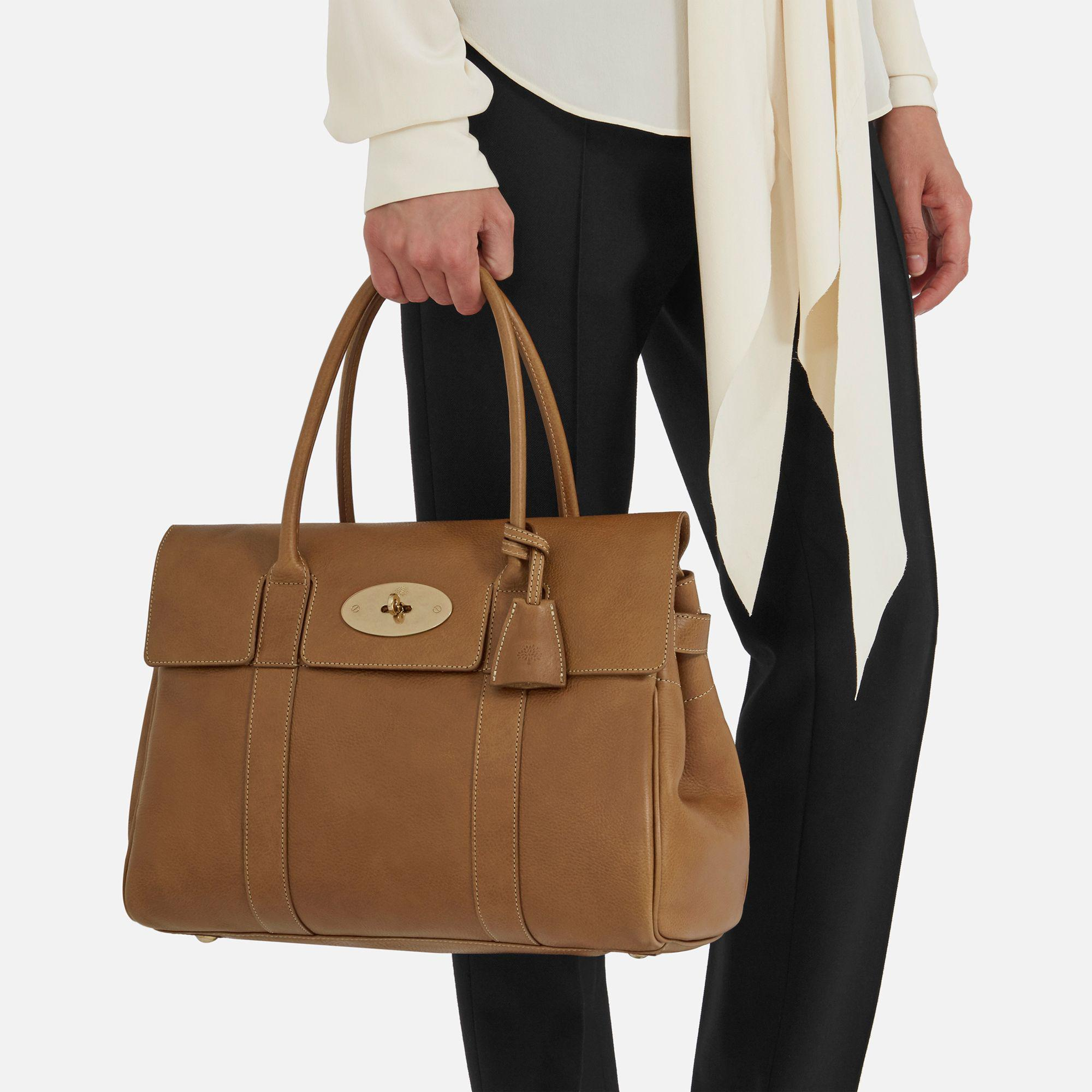 5b41ccceae ... spain mulberry brown bayswater leather bag lyst. view fullscreen efe35  66790