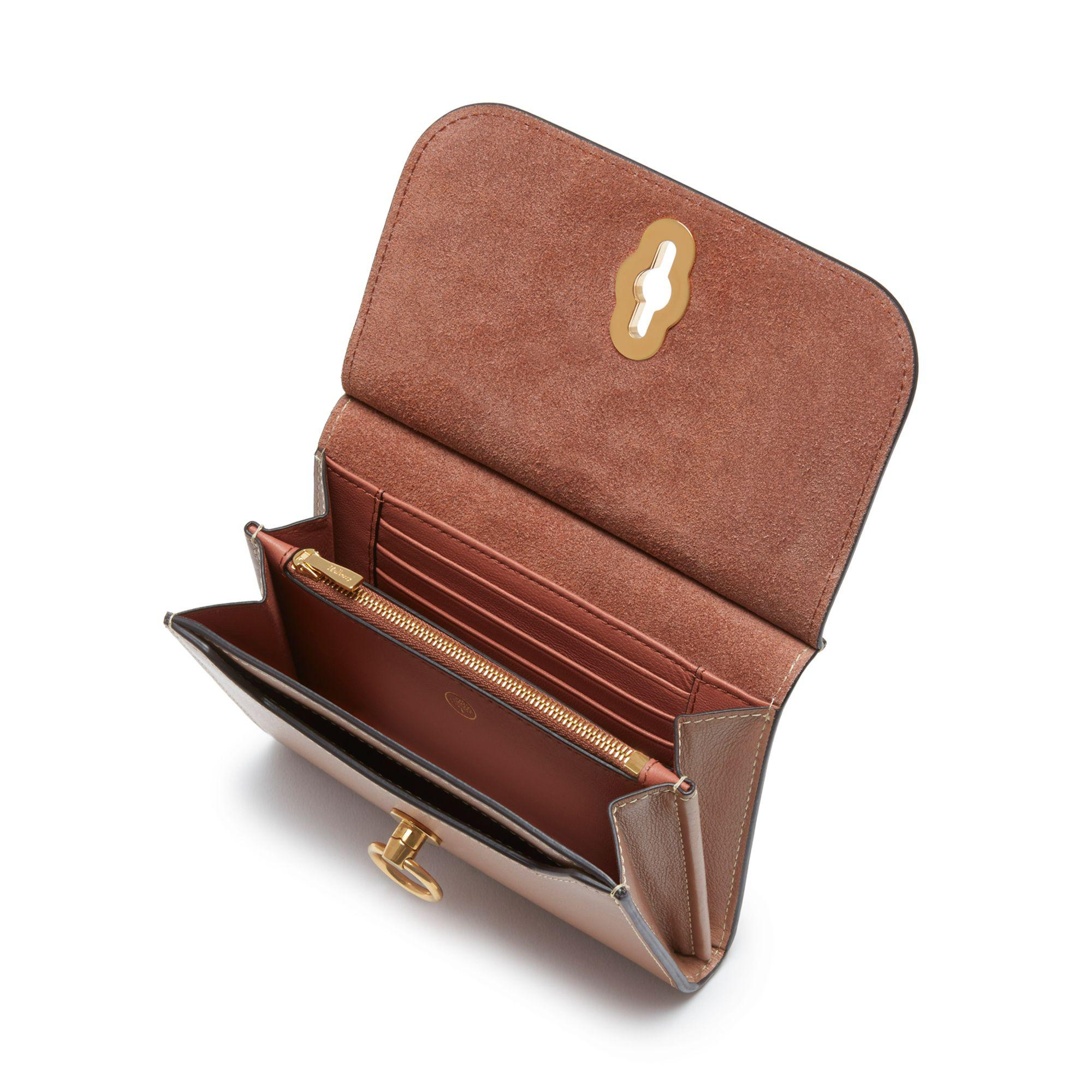 8072a54350e7 ... low cost lyst mulberry amberley medium wallet in brown 62d0d a8750