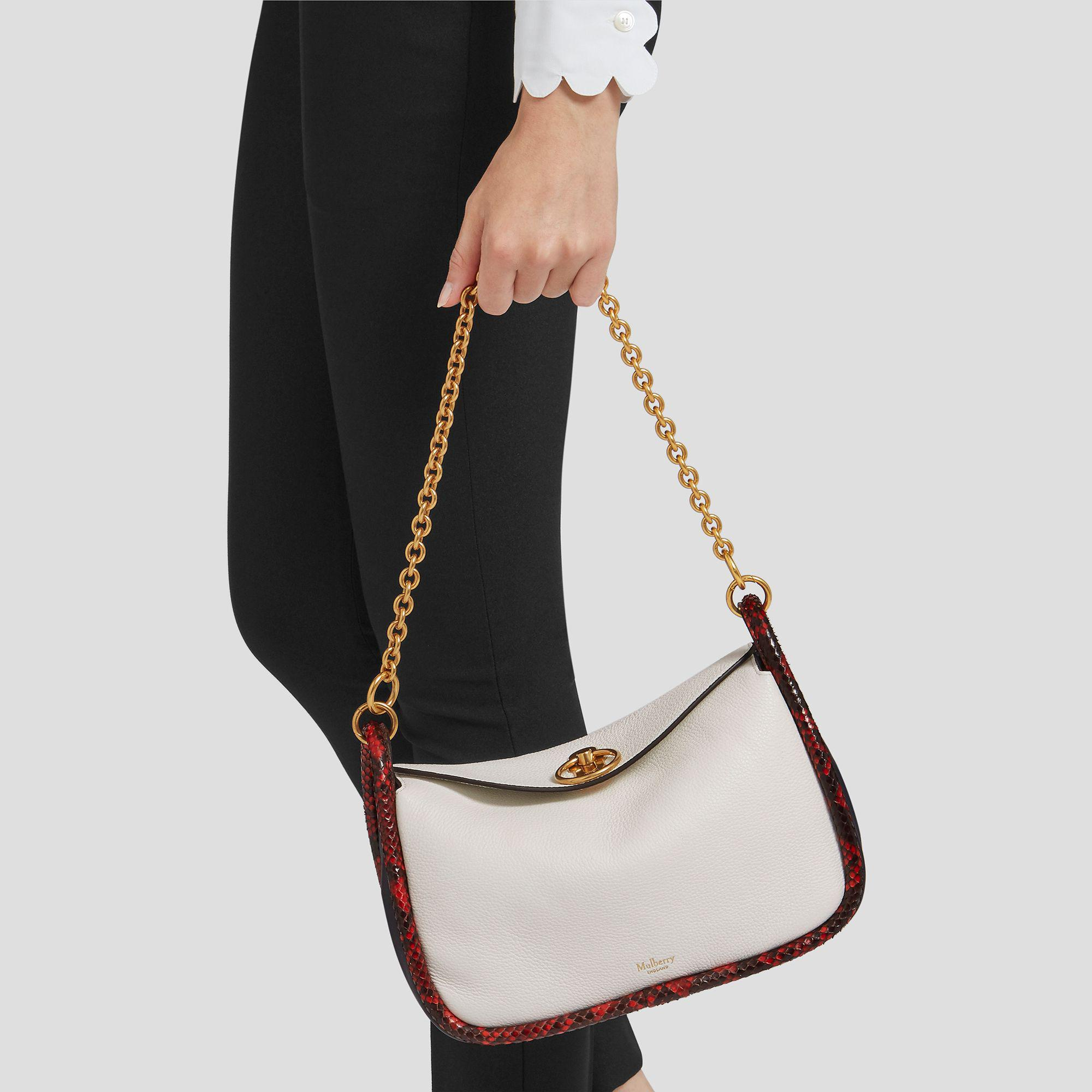 Mulberry Small Leighton in White - Lyst 682f4321b0ee4