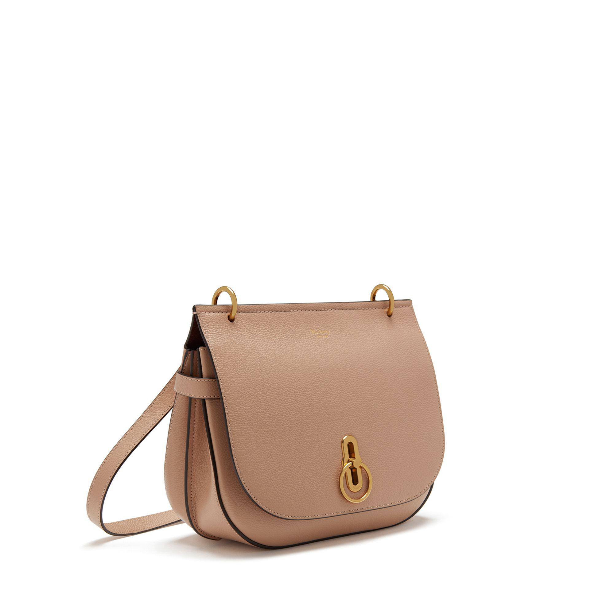 9e5631e3920 Mulberry. Women s Brown Amberley Satchel In Rosewater Small Classic Grain