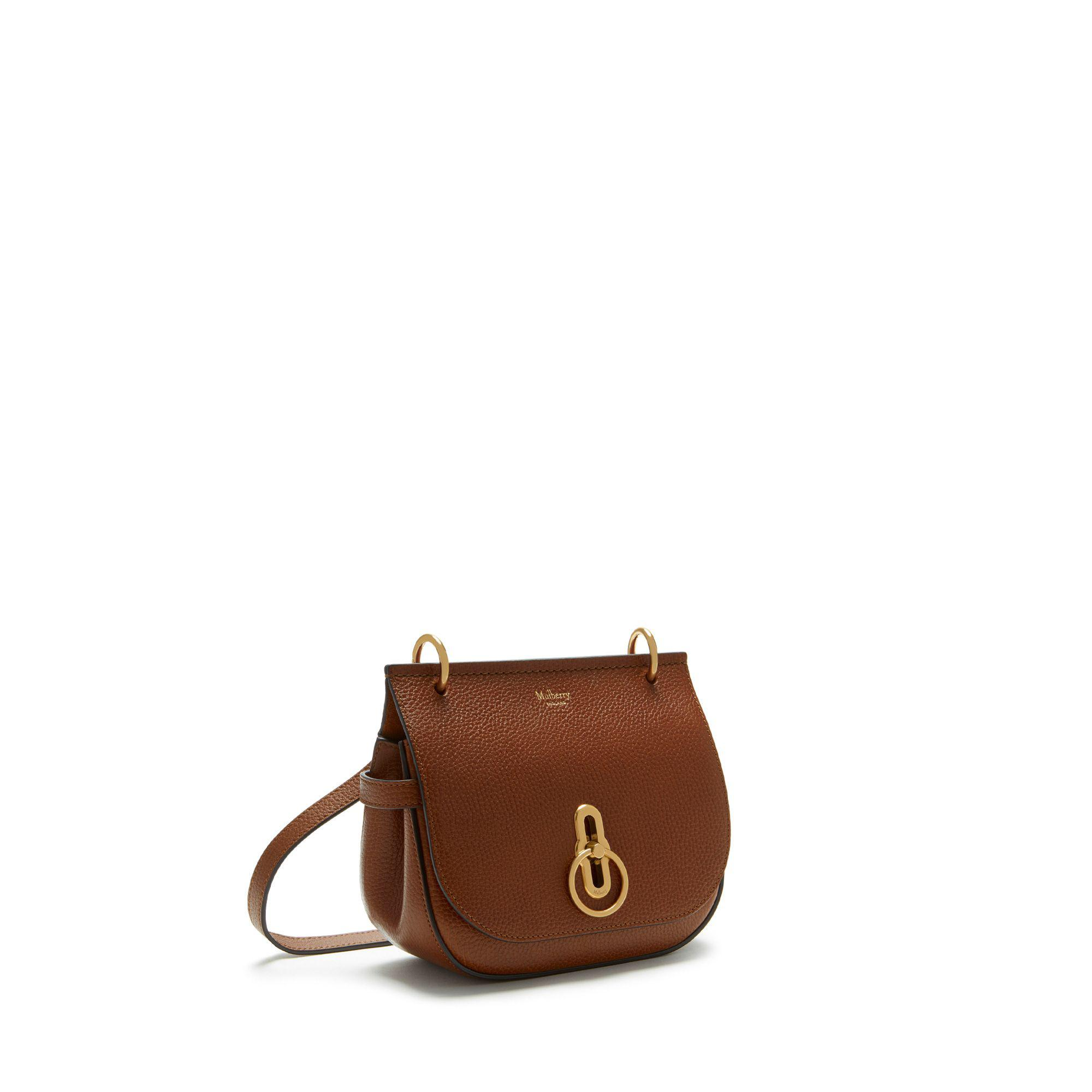 810bf32deb0e Mulberry - Brown Small Amberley Satchel In Oak Natural Grain Leather -  Lyst. View fullscreen