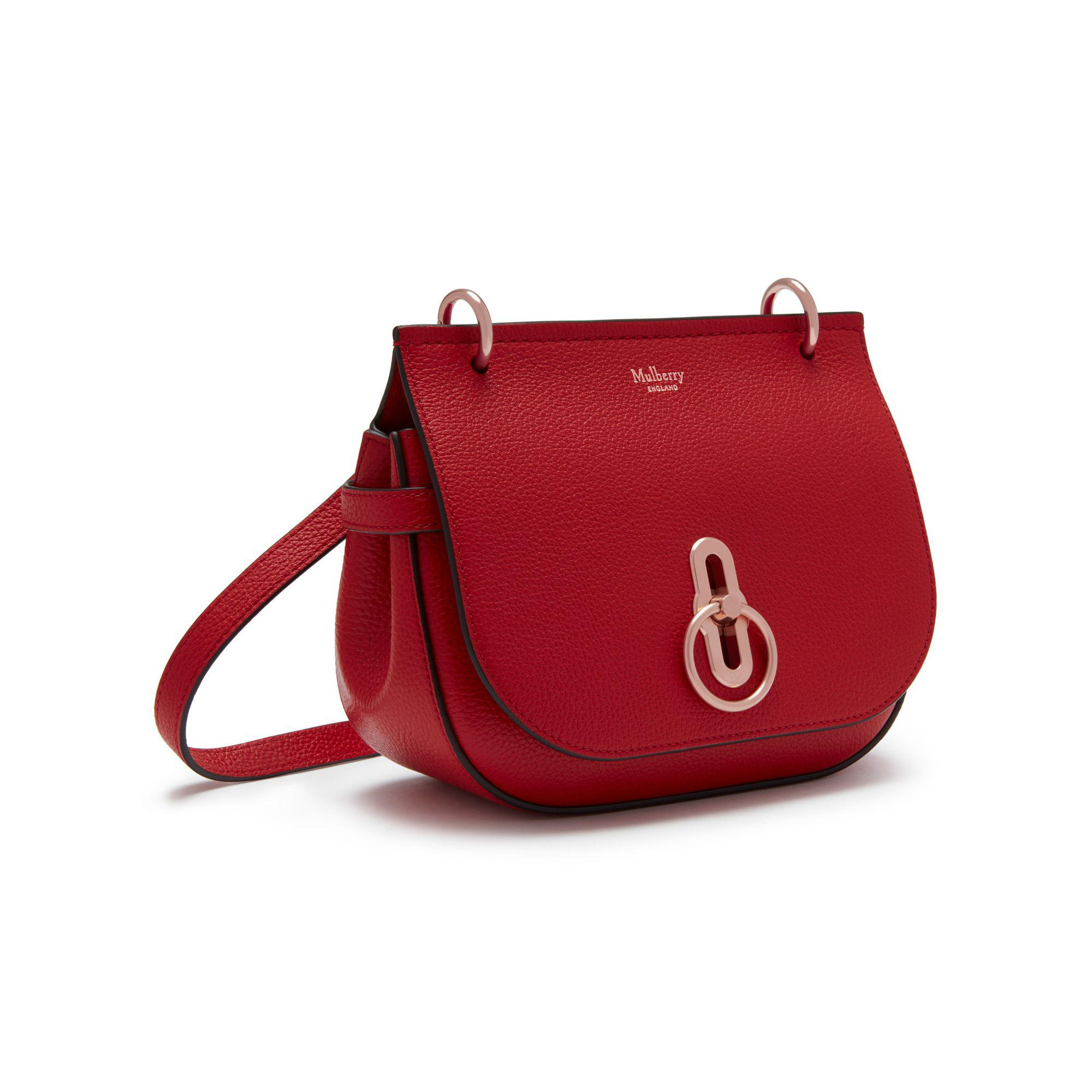 688d03b5e228 ... spain lyst mulberry small amberley satchel in red be41d 84123