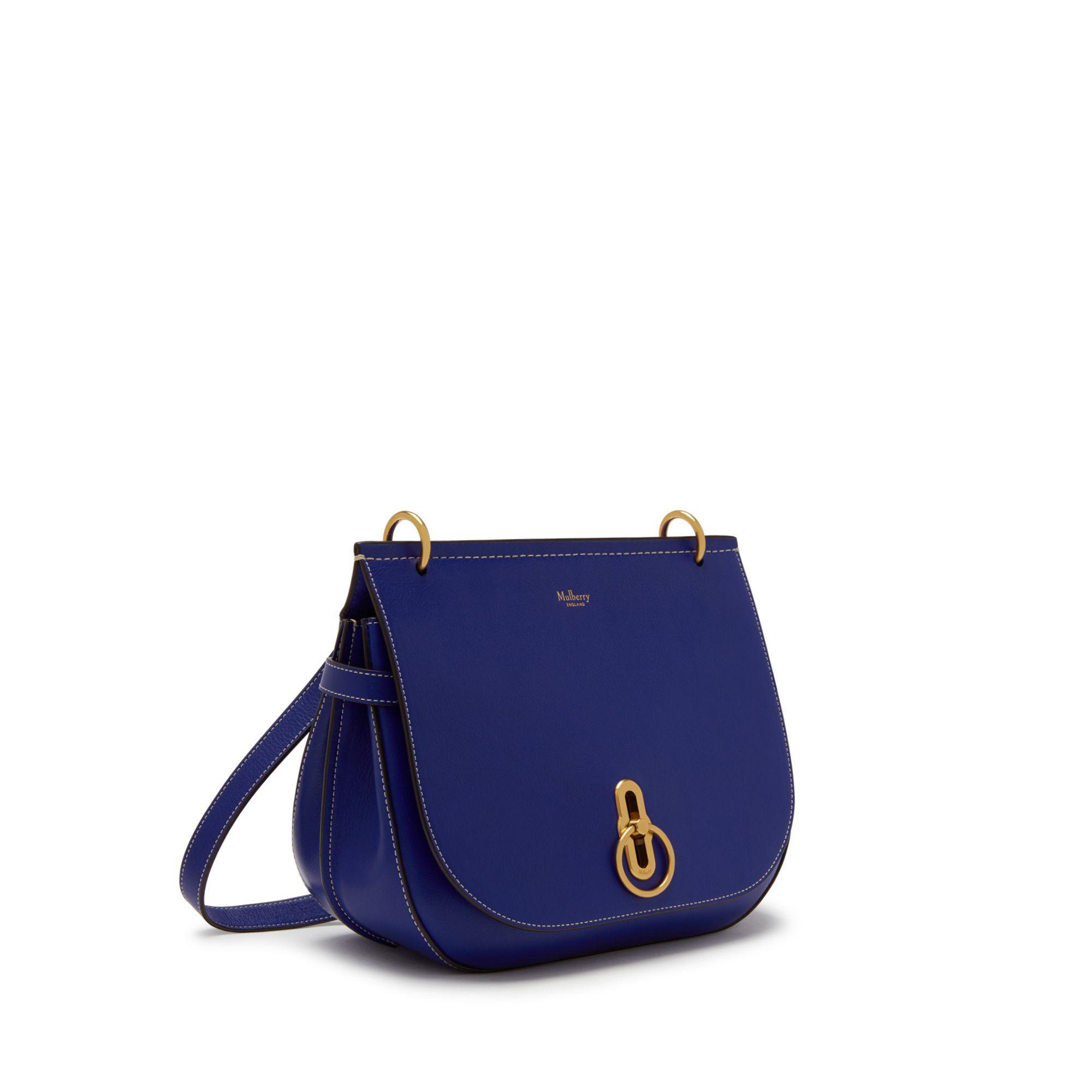 755e0d548e1c8 Mulberry - Amberley Satchel In Cobalt Blue Silky Calf - Lyst. View  fullscreen