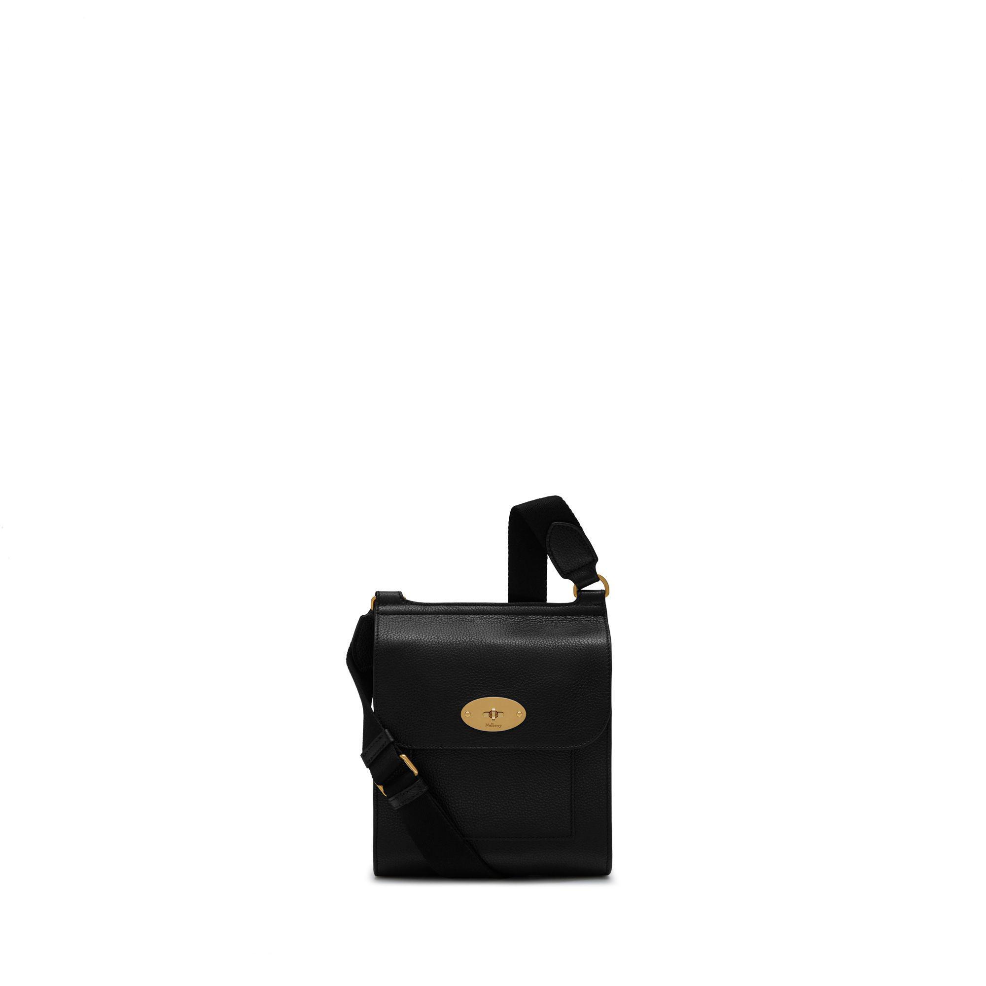 9e826acae5f Mulberry Small Antony In Black Small Classic Grain in Black for Men ...