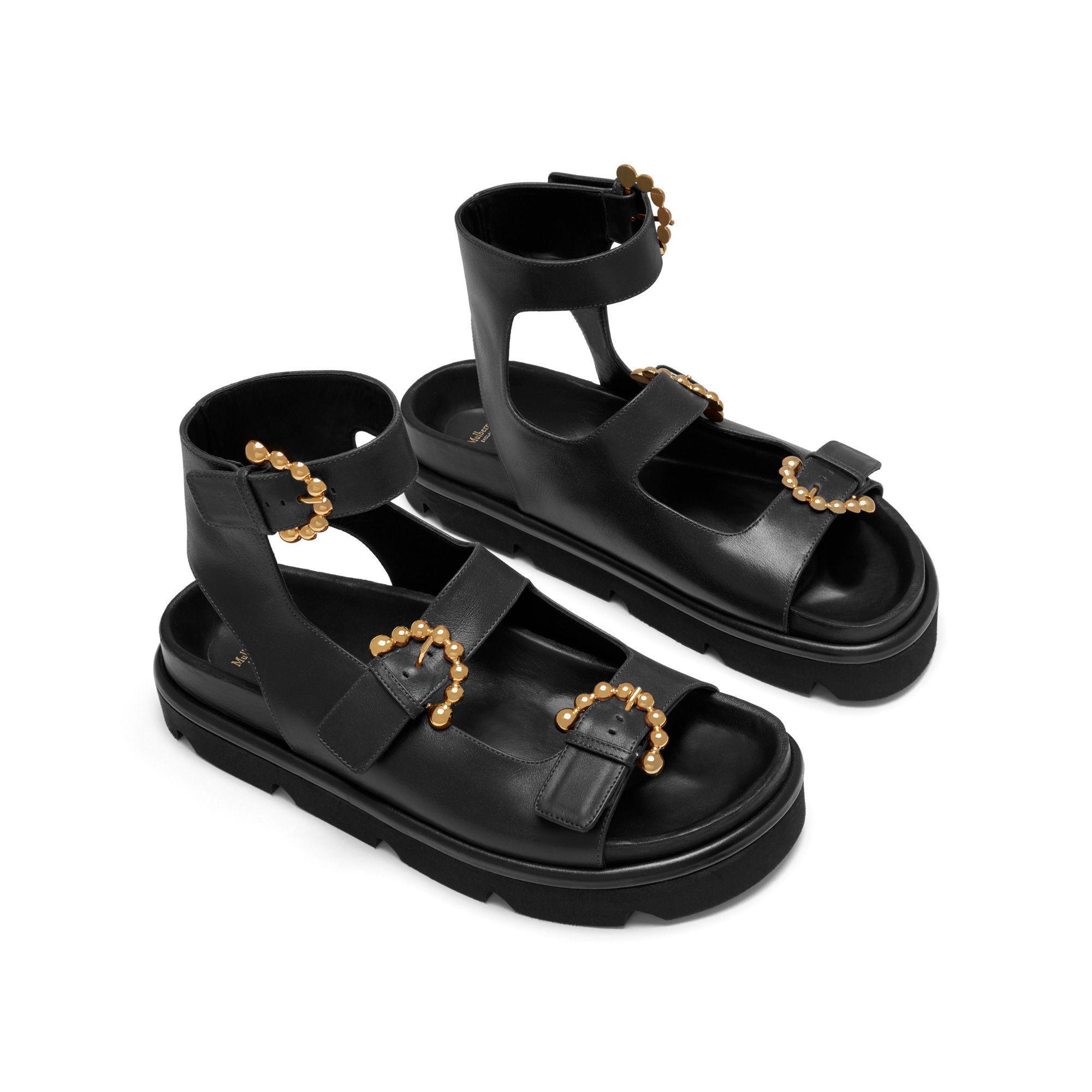 Mûriers Sandales Bouclées - Noir 8firb3R5