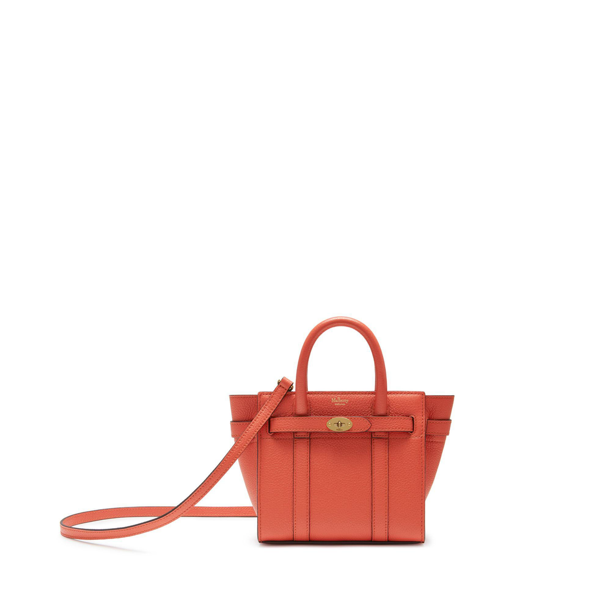 Mulberry - Pink Micro Zipped Bayswater In Coral Rose Small Classic Grain -  Lyst. View fullscreen 0e39ffd55d744