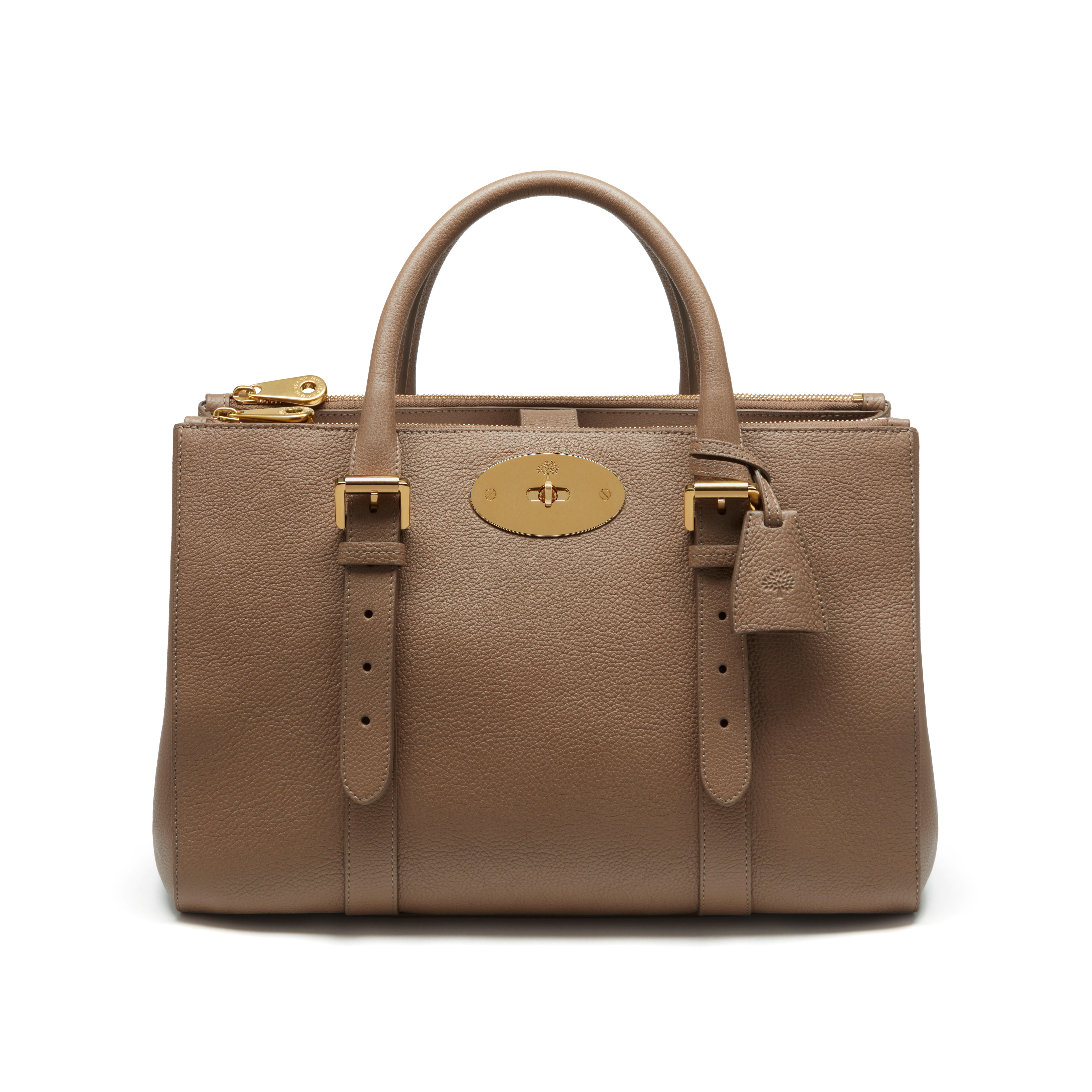 fb953b5588 Lyst - Mulberry Bayswater Double Zip Tote in Brown