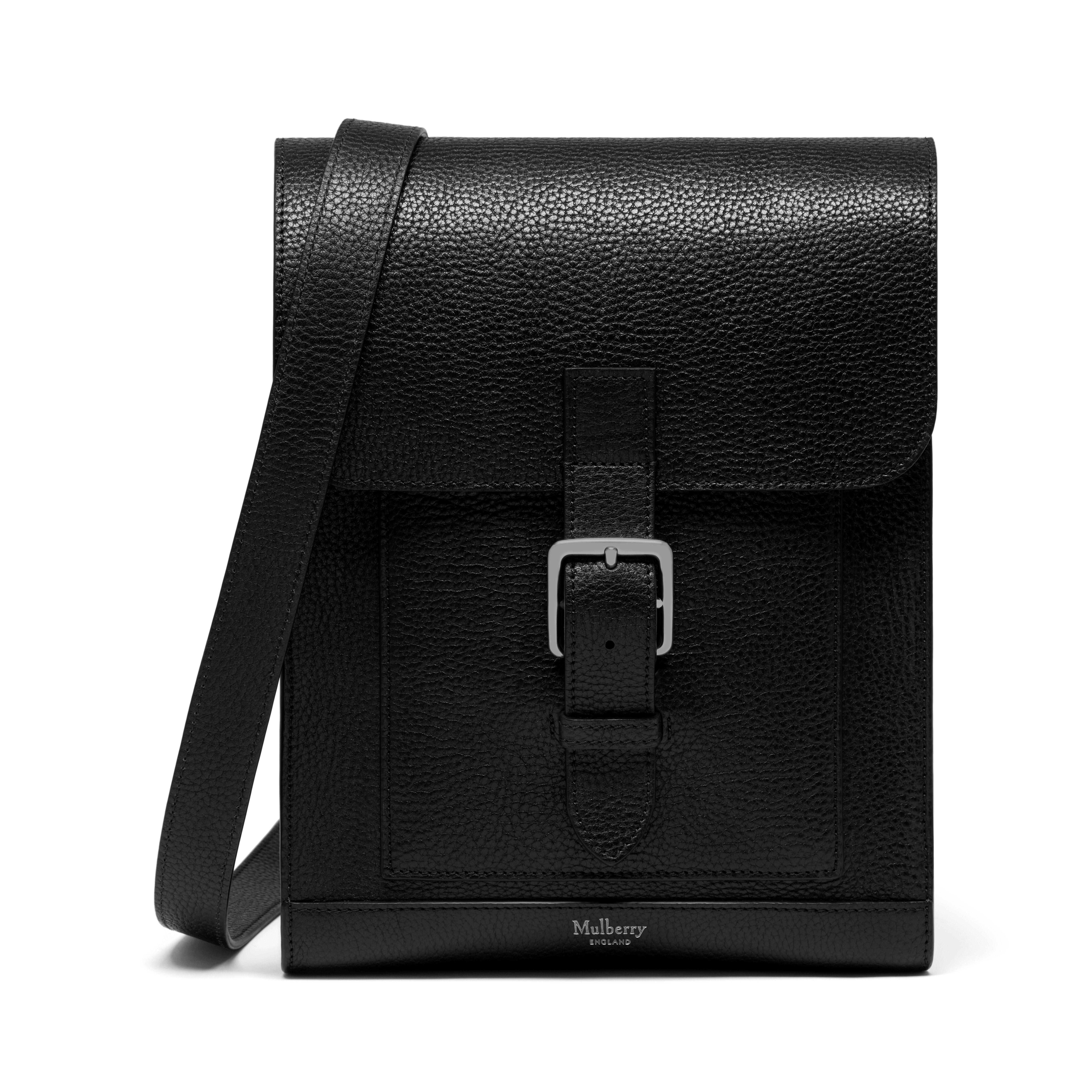 54b0a9f61669 ... bag d3bf5 1512c closeout lyst mulberry chiltern small messenger in  black for men dd895 8b550 ...