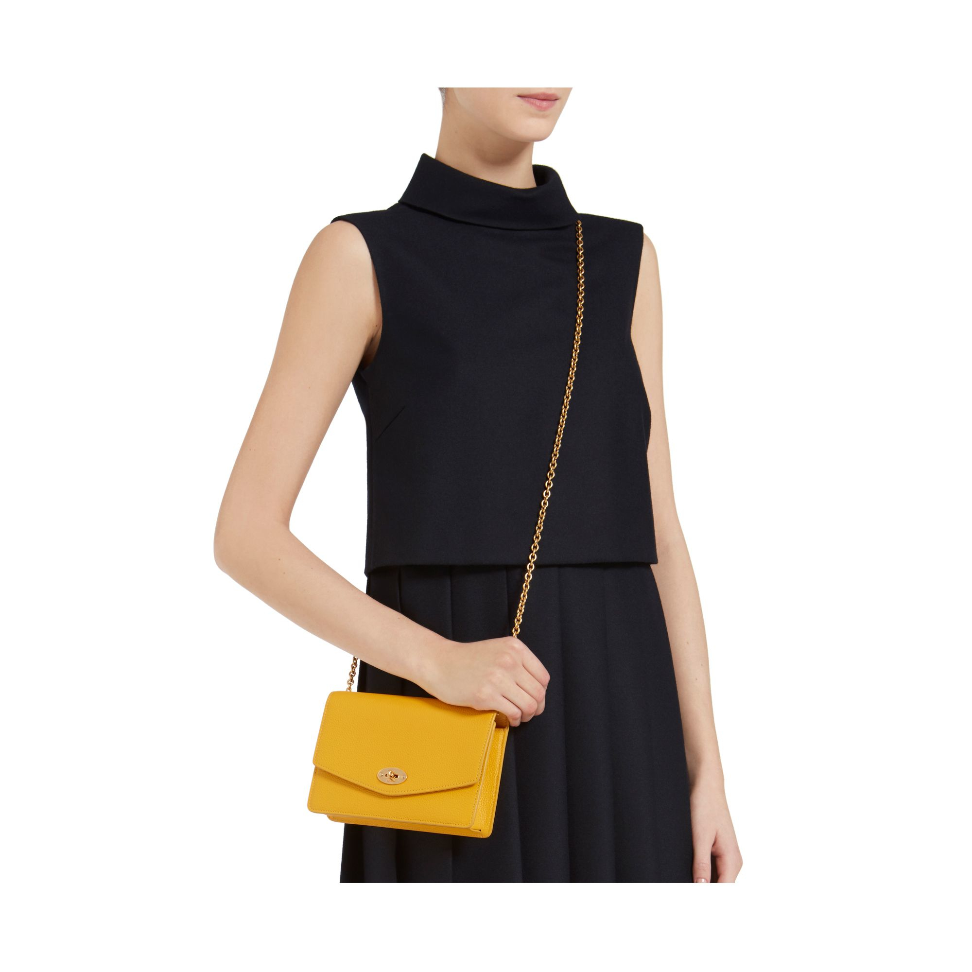 a75ec68a3025 Mulberry Small Darley in Yellow - Lyst