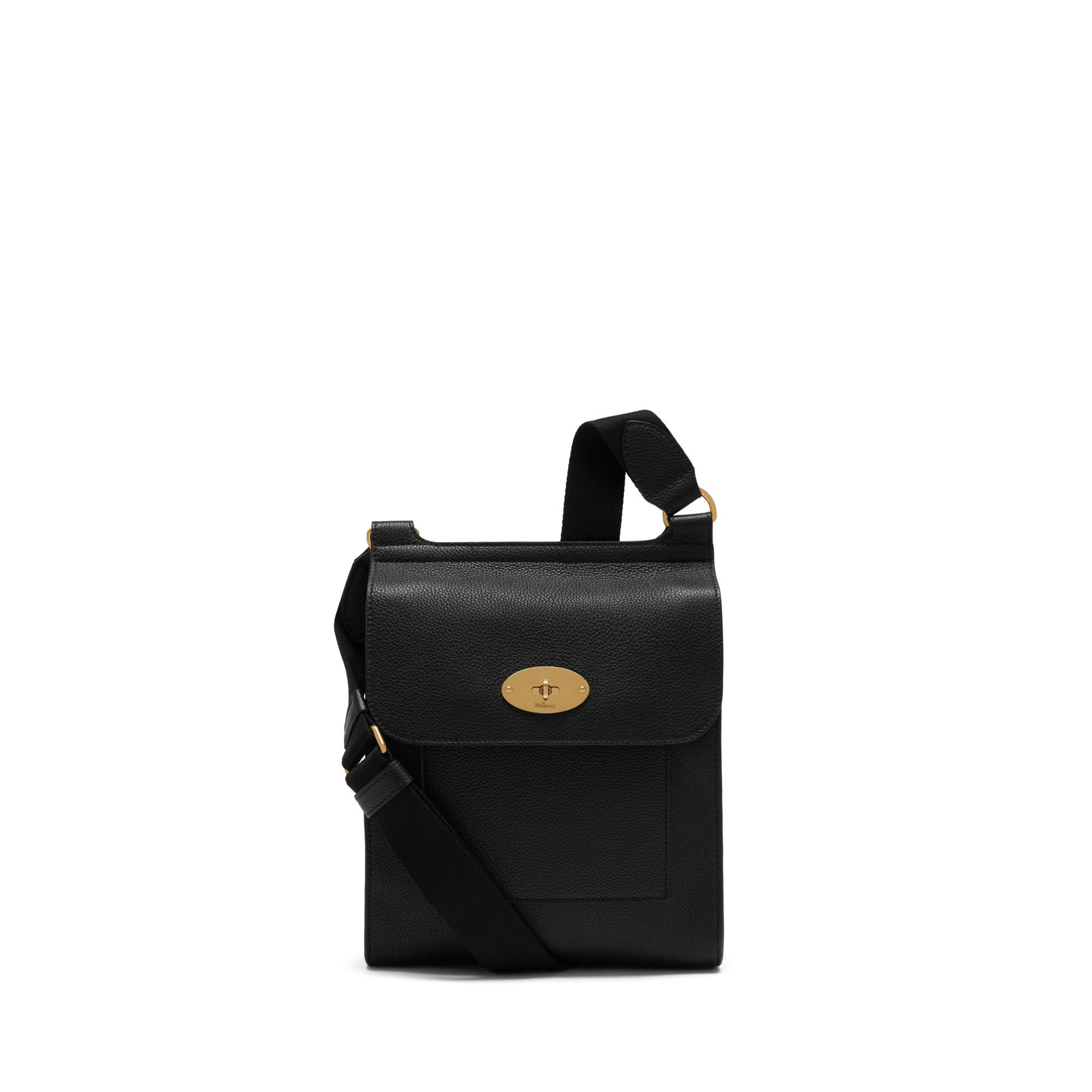 0969c91ac07 Lyst - Mulberry New Antony In Black Small Classic Grain in Black for ...