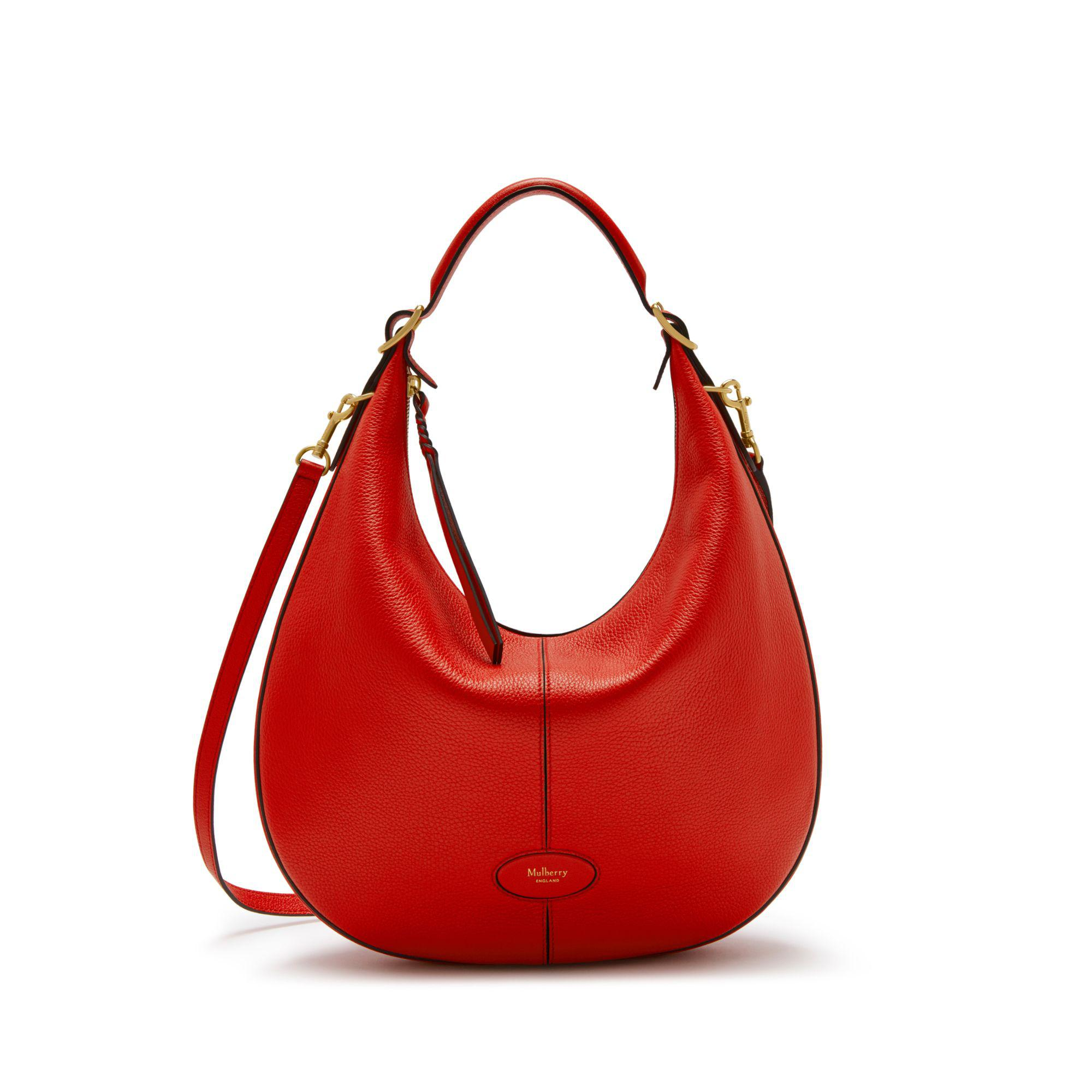 Mulberry Small Selby In Hibiscus Red Small Classic Grain in Red - Lyst 6f6eec391e8ea
