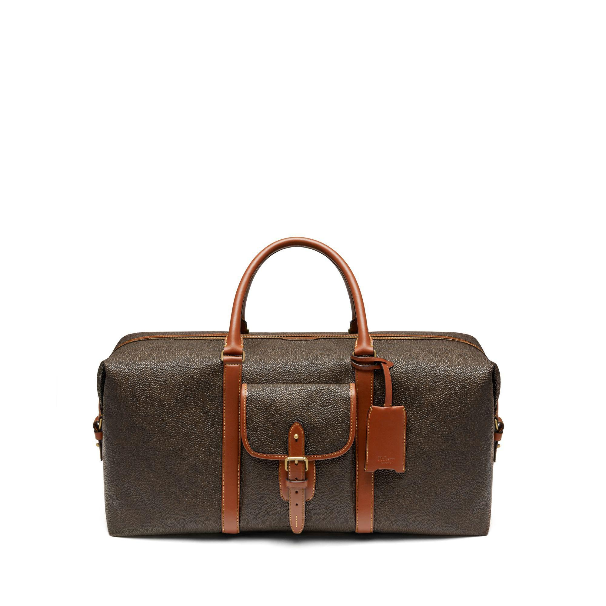 c061518685 Lyst - Mulberry Large Heritage Weekender In Mole And Cognac ...