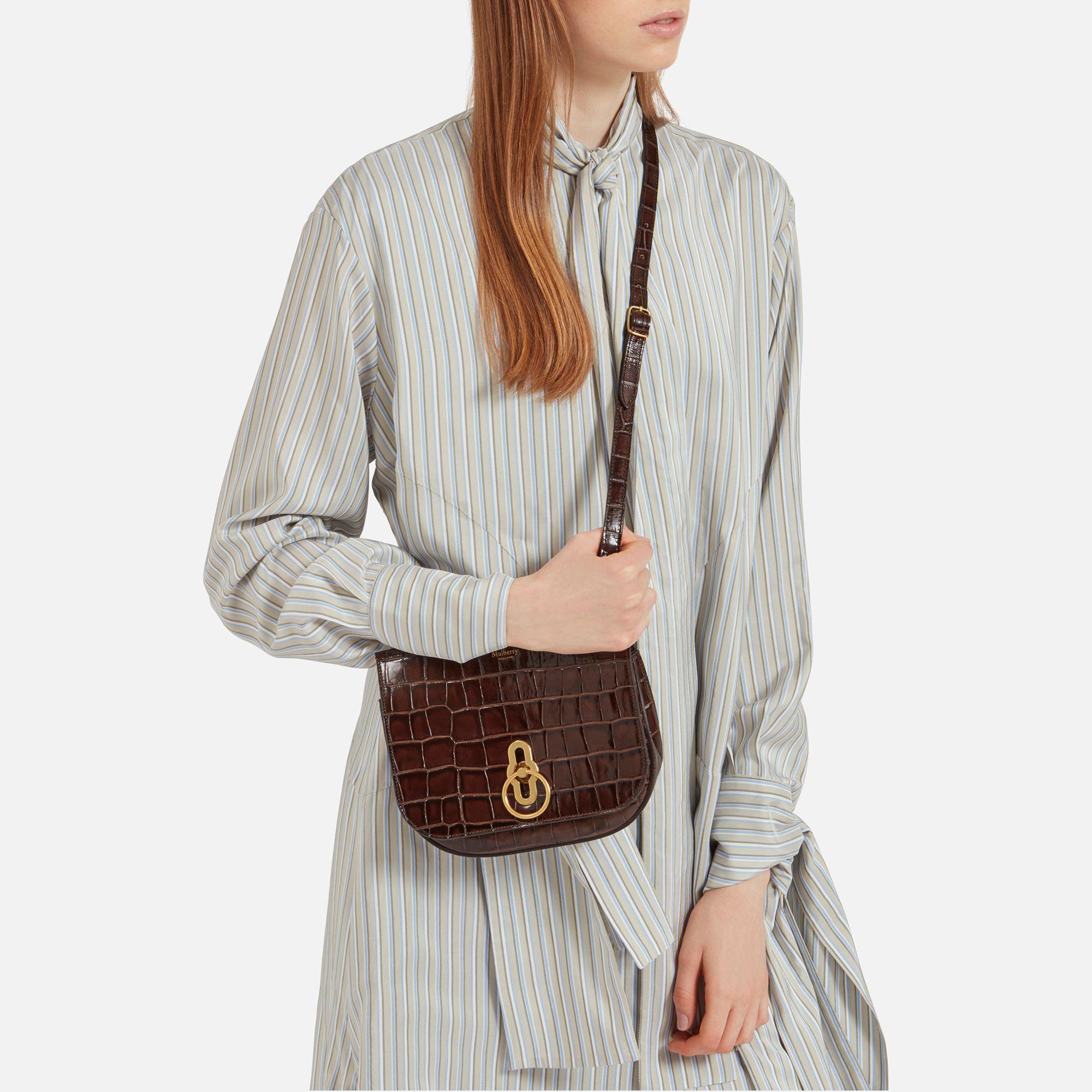 0b4e39d94617 ... new zealand mulberry amberley satchel bag lyst mulberry small amberley  satchel in brown b891c ab2a1