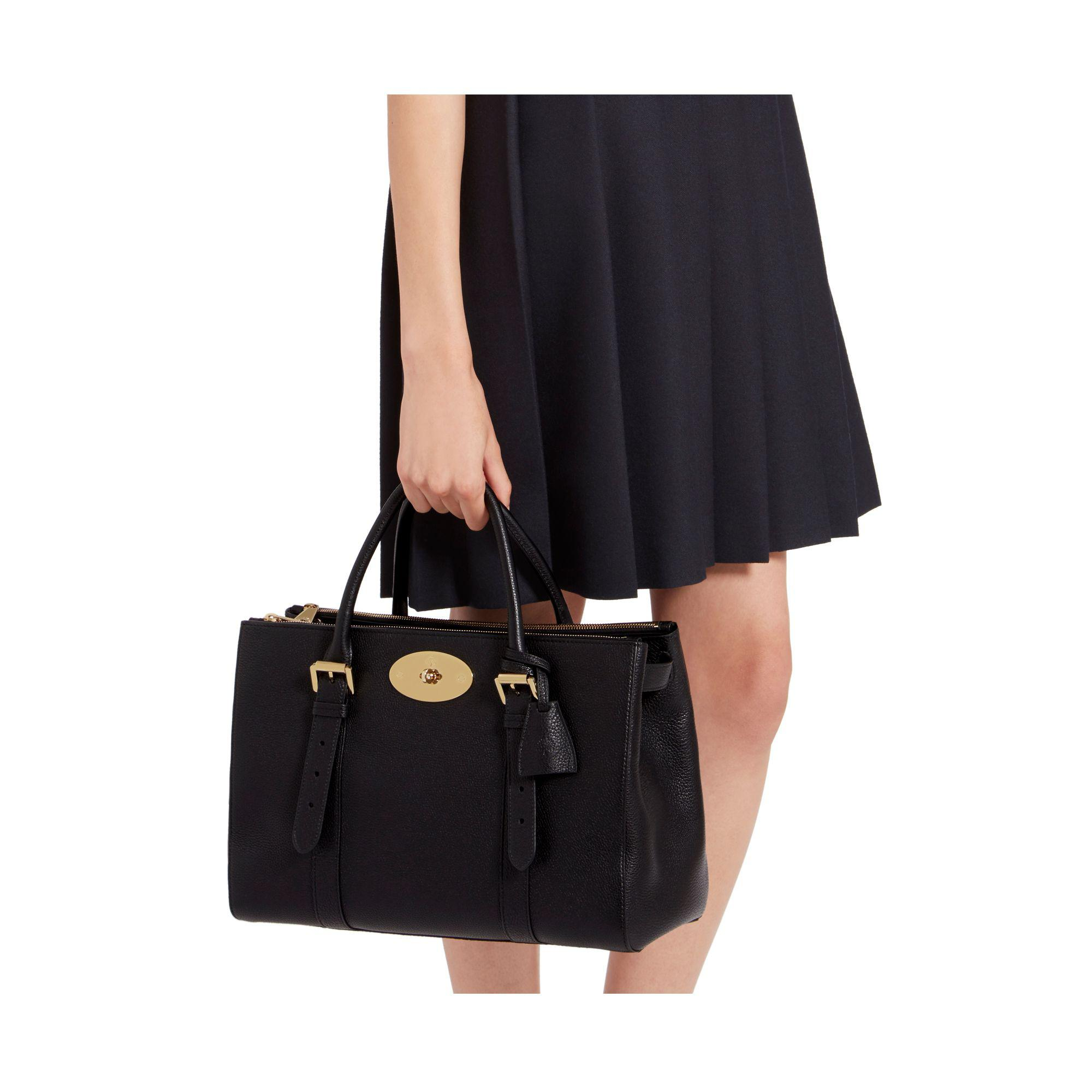 b3e618a599e ... best lyst mulberry bayswater double zip tote bag in black d5ce2 ed271