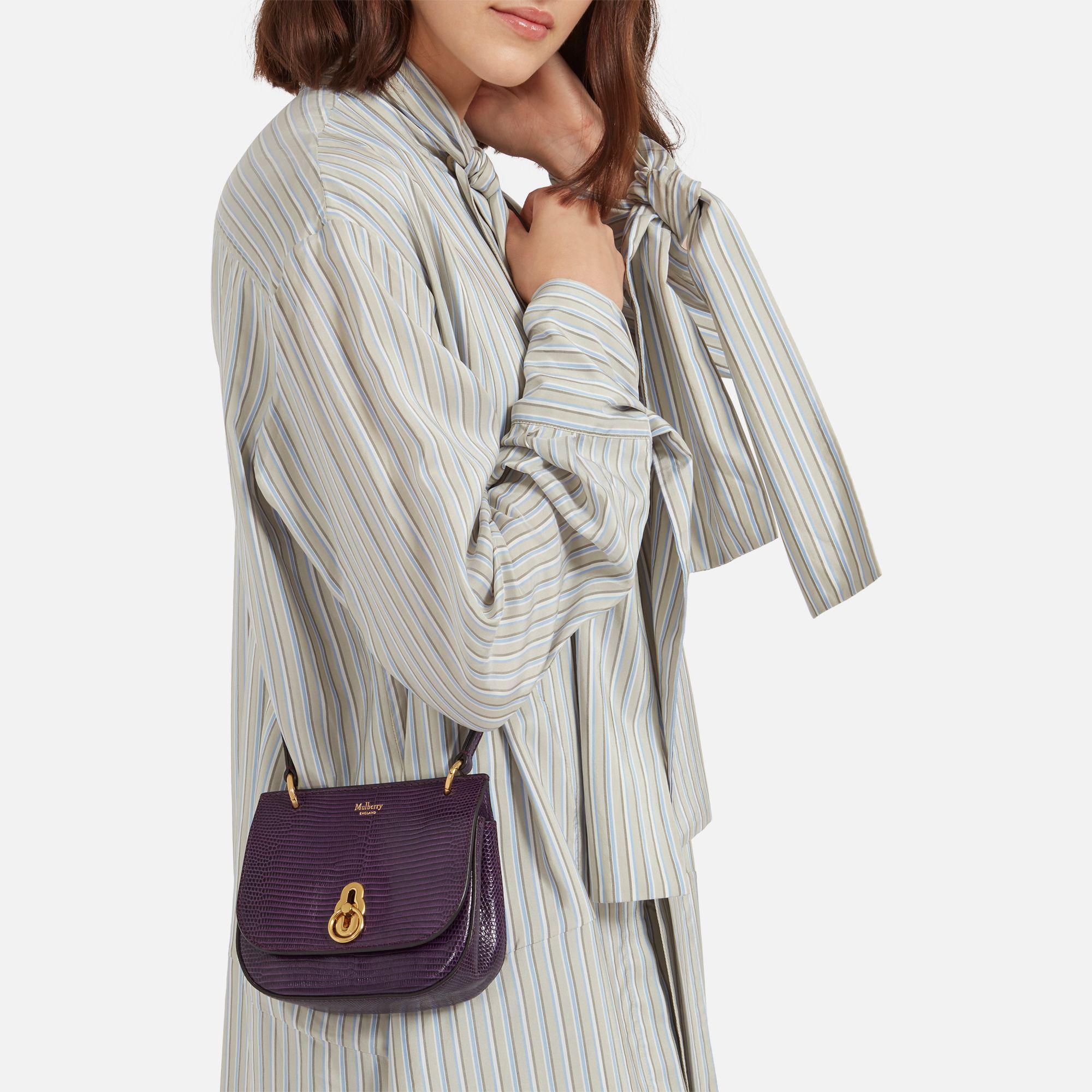 706009b7b411 ... discount amberley. mulberry handbagequestrian mulberry purple mini amberley  satchel lyst. view fullscreen cf26a 3e2c4