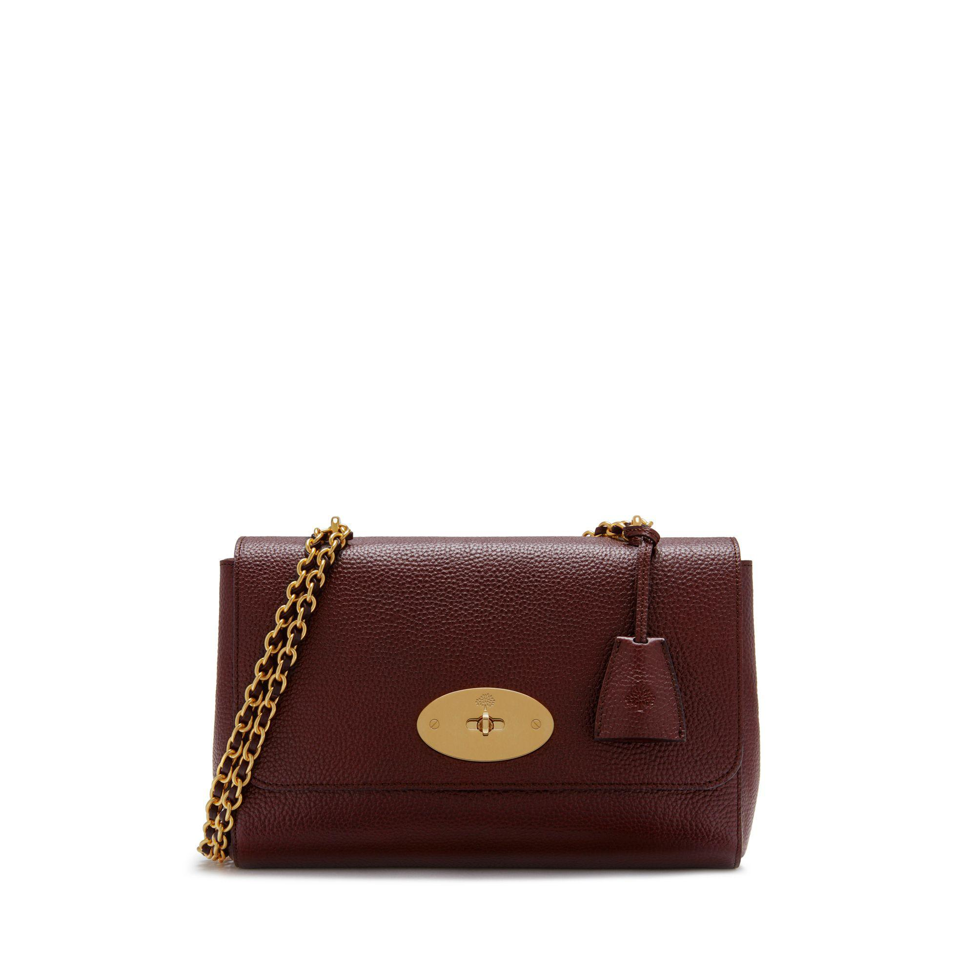 60e1ab4c048f Mulberry. Women s Medium Lily In Oxblood Natural Grain Leather