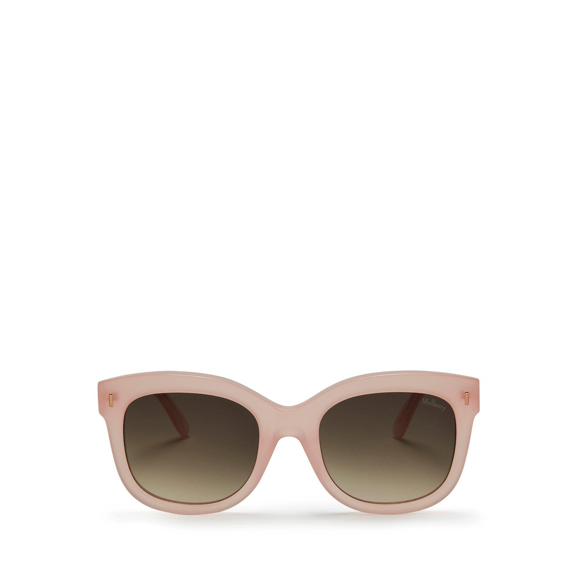 799552b914cc Mulberry Charlotte Sunglasses In Sorbet Pink Acetate in Pink - Lyst