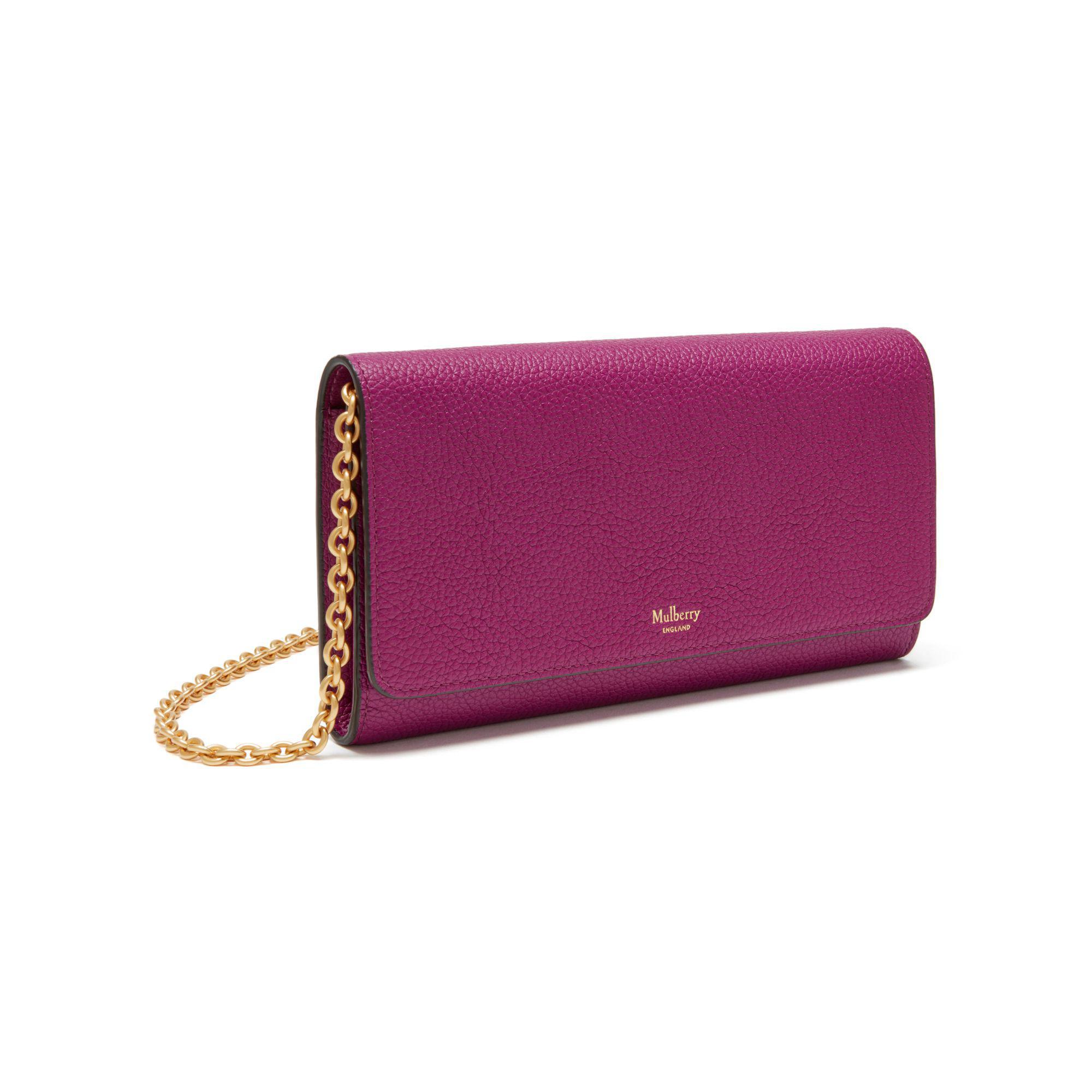 e3c1e5df56 Lyst - Mulberry Continental Clutch Bag in Purple