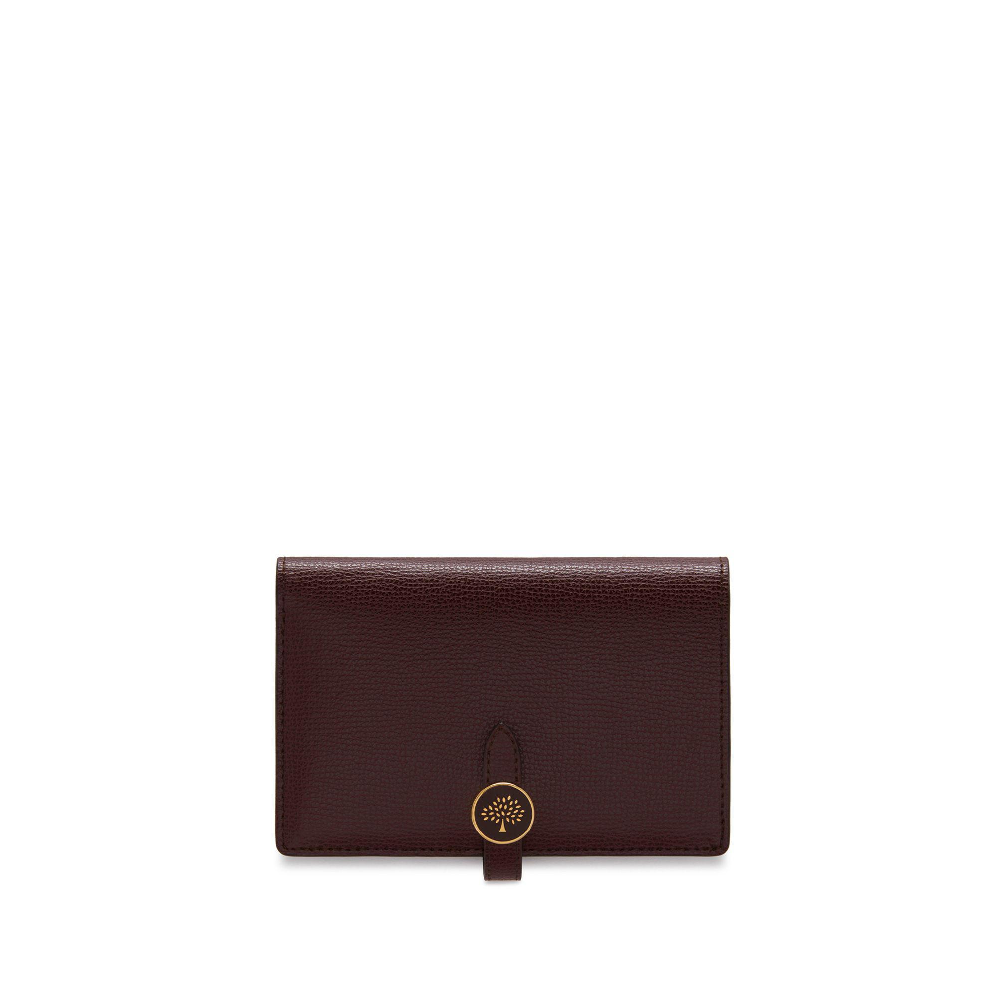 be1b77bedf Mulberry Tree Medium Wallet In Oxblood Cross Grain Leather in Purple ...
