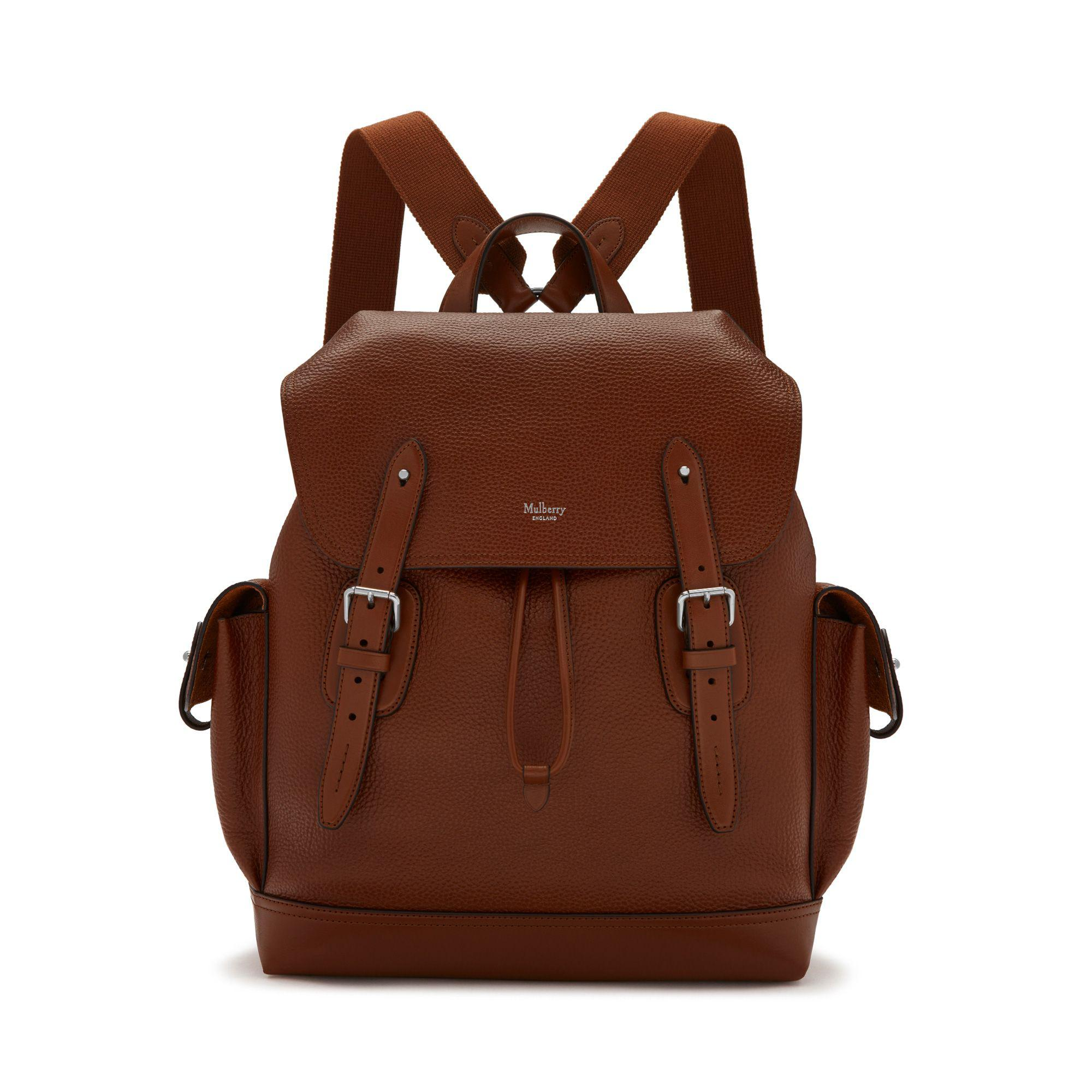 559e891427 Mulberry - Brown Heritage Backpack In Oak Natural Grain Leather for Men -  Lyst. View fullscreen