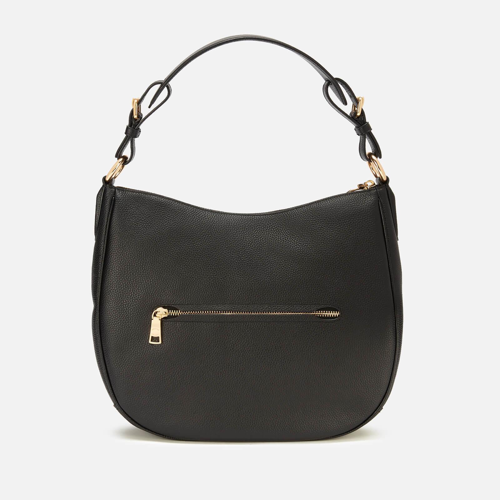 bc941ab78749 COACH - Black Polished Pebble Leather Sutton Hobo Bag - Lyst. View  fullscreen