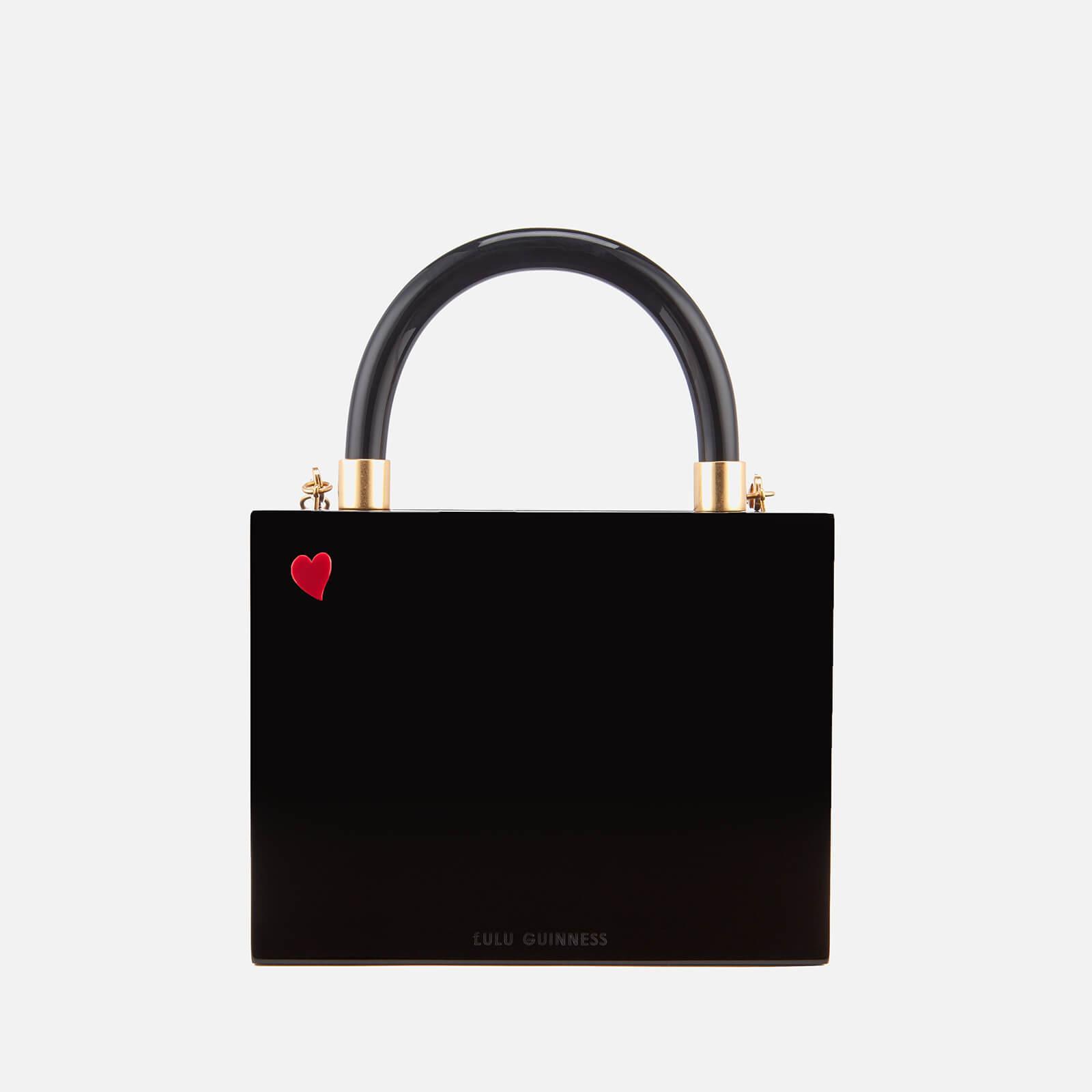 adcb8e58ee12d Lyst - Lulu Guinness Chloe Kissing Cameo Top Handle Bag in Black