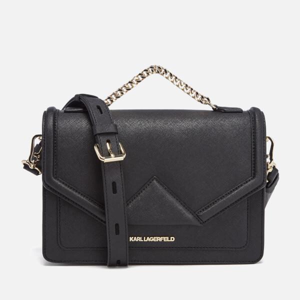 karl lagerfeld women 39 s k klassik shoulder bag in black lyst. Black Bedroom Furniture Sets. Home Design Ideas