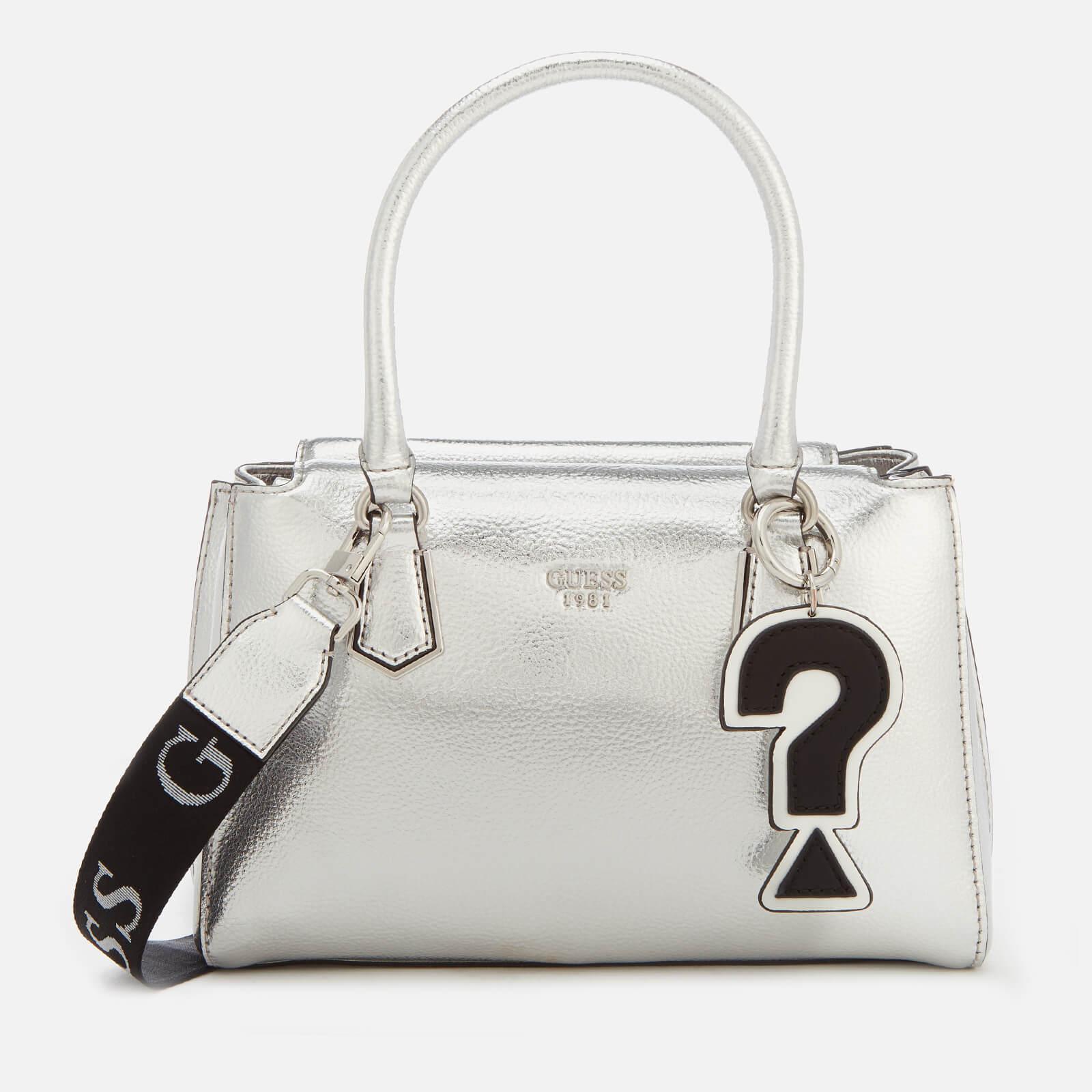 Guess Felix Silver Tote Bag in Metallic - Lyst bcc5c9f3a6e62