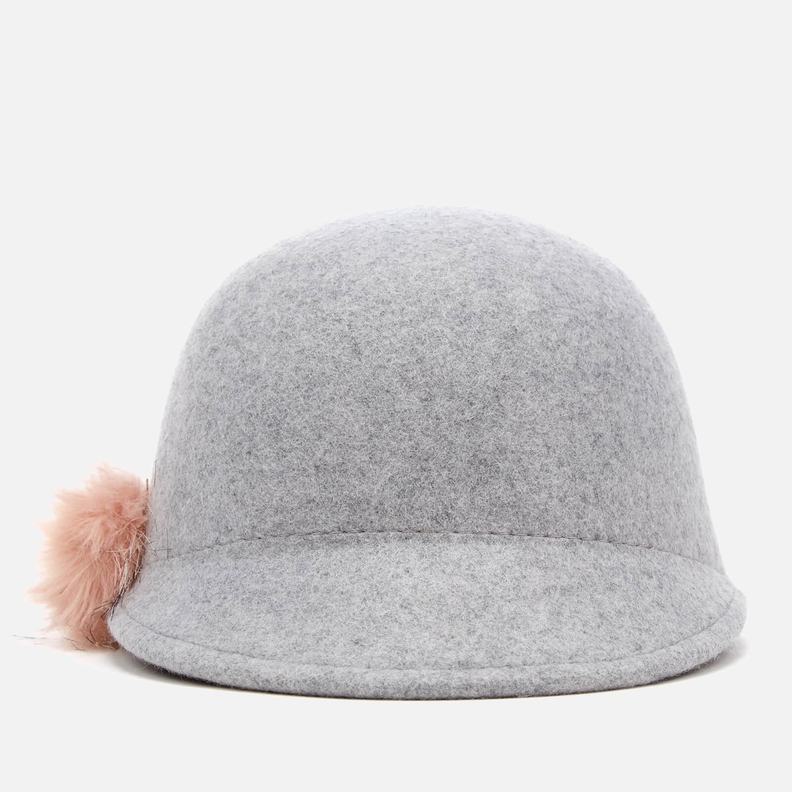 Lyst - Ted Baker Adabel Faux Fur Pom Pom Felt Hat in Gray dda6fc965e5d