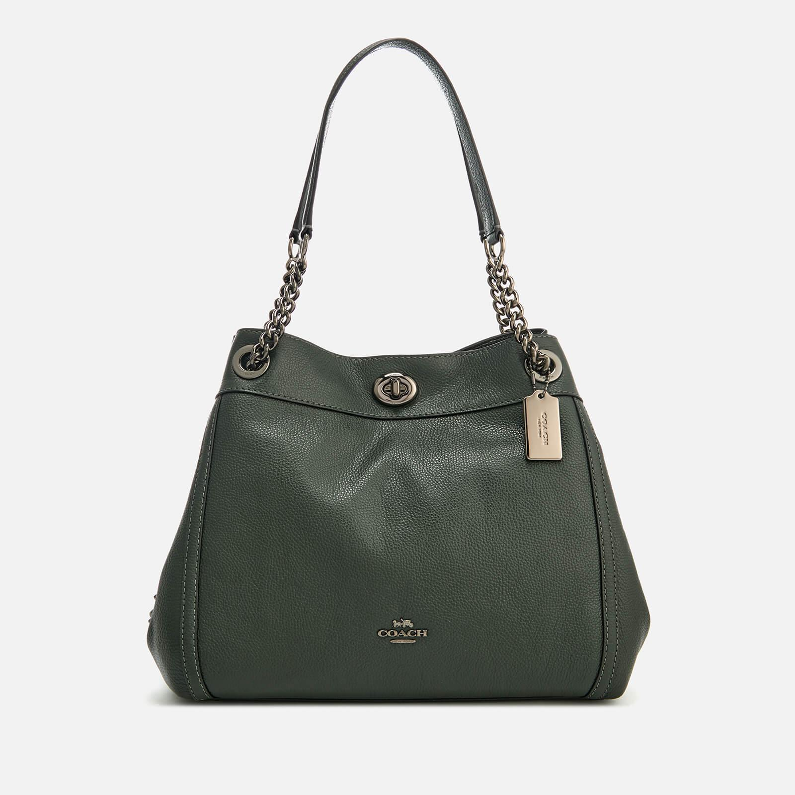 Lyst - COACH Turnlock Edie Bag in Green d4a292caa3904