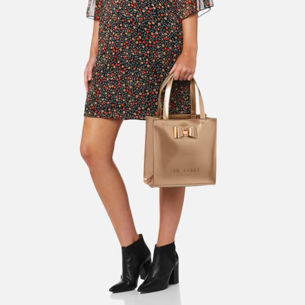 0d079ac952a9 Lyst - Ted Baker Jenacon Bow Detail Small Icon Bag in Natural