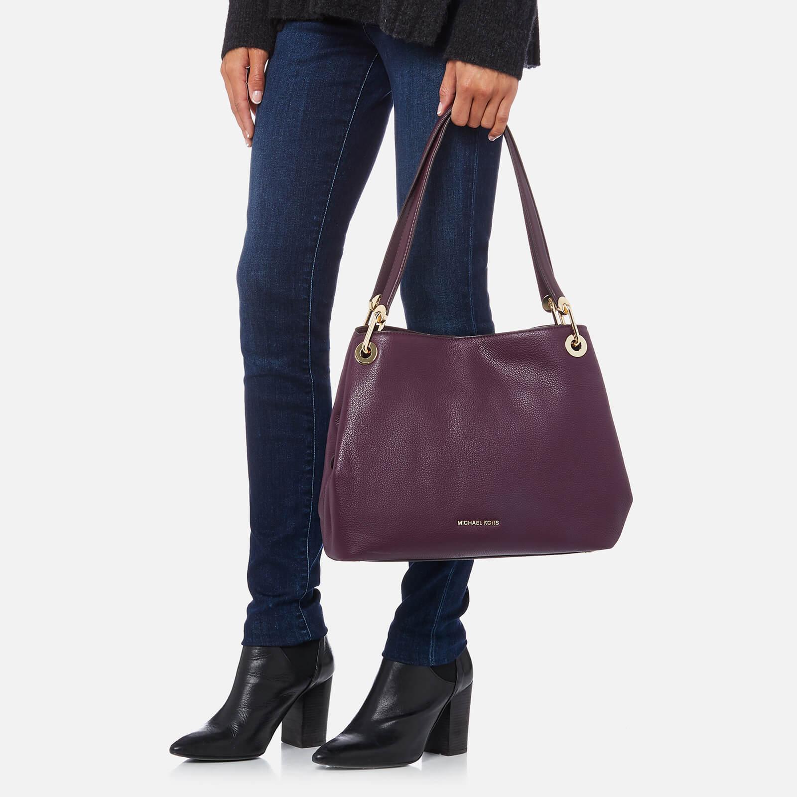 9fb765b12af3 MICHAEL Michael Kors Raven Large Shoulder Tote Bag in Purple - Lyst