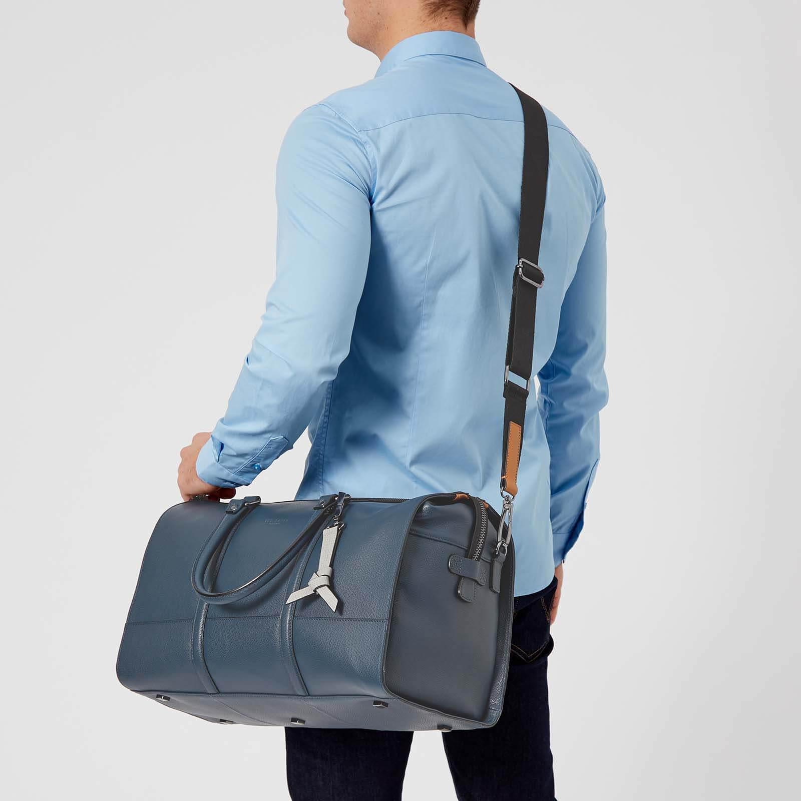 f8c2dcbec4b0a Lyst - Ted Baker Radical Leather Holdall Bag in Blue for Men
