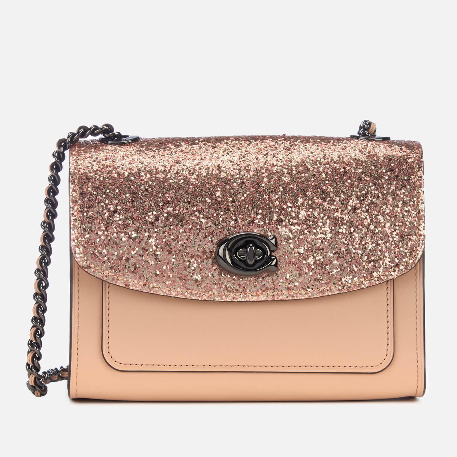 ae5112be08 Lyst - COACH Glitter Blocked Parker 18 Shoulder Bag