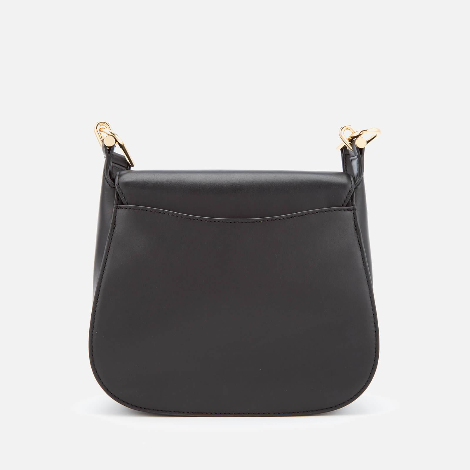 ab90c96c7d39 MICHAEL Michael Kors Delfina Large Saddle Bag in Black - Lyst